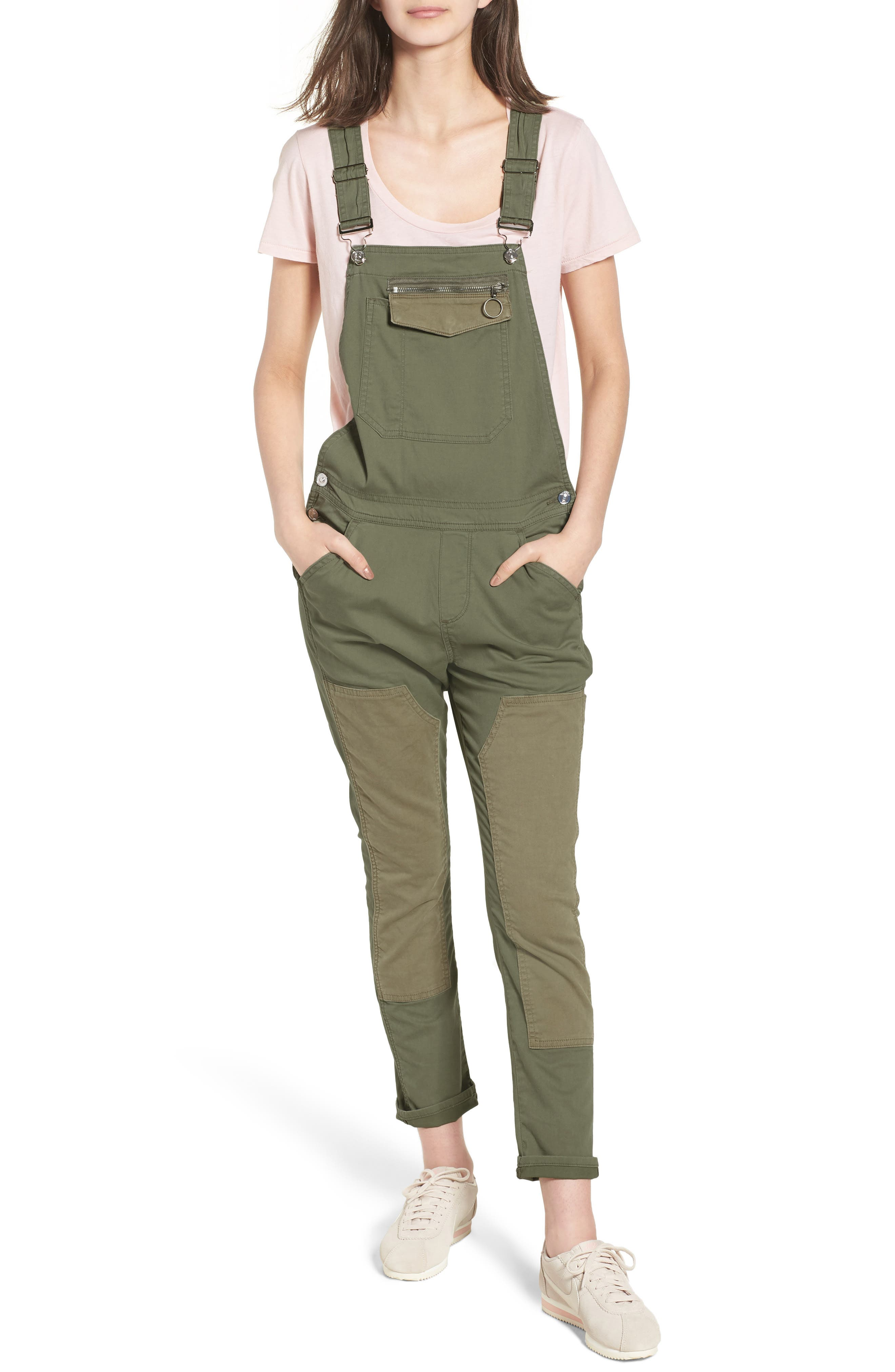 Workwear Overalls,                         Main,                         color, Olive Remix