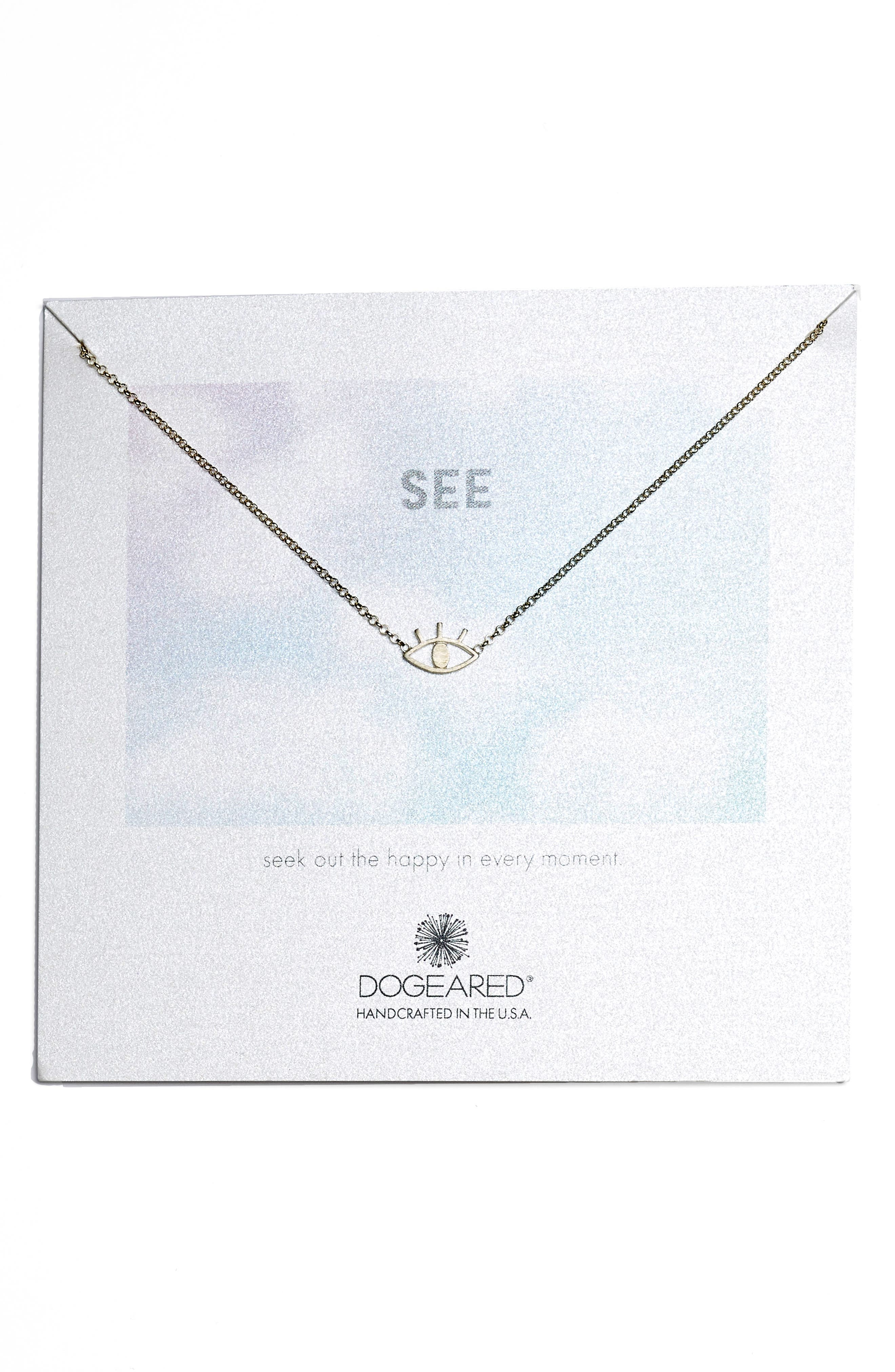 See Open Eye Necklace,                         Main,                         color, Silver