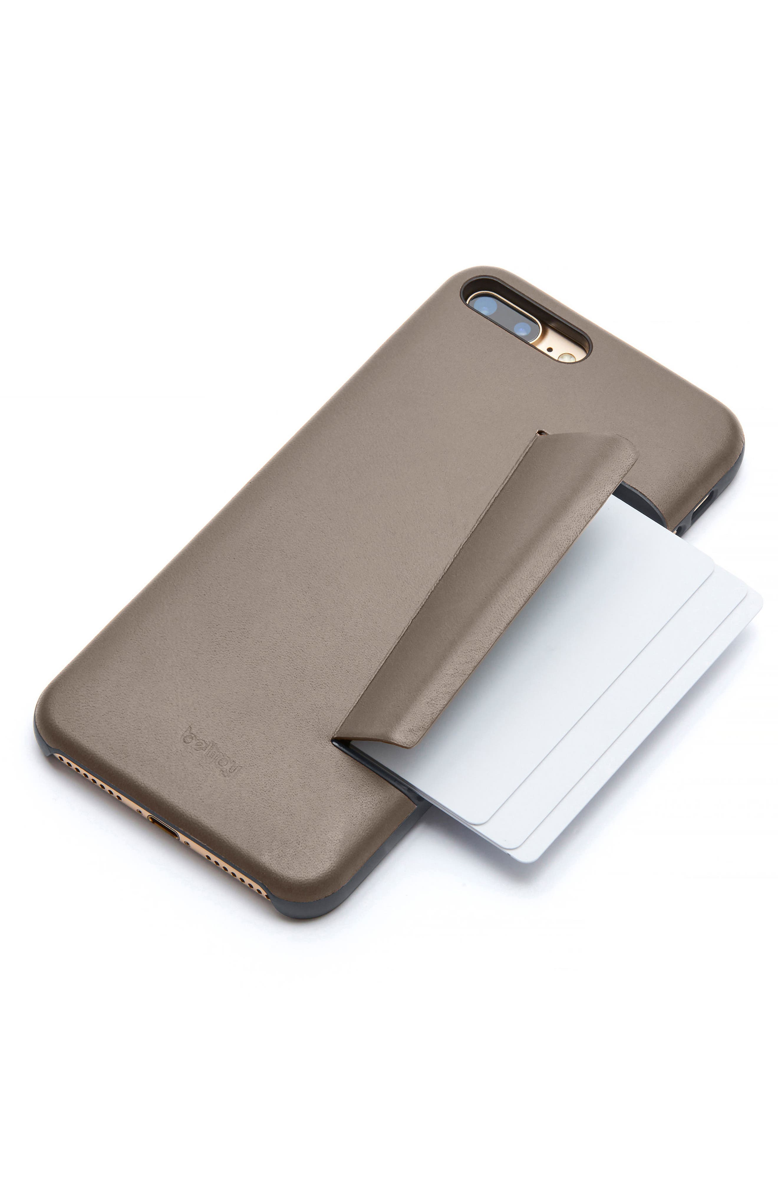 iPhone 7 Plus/8 Plus Case with Card Slots,                             Alternate thumbnail 4, color,                             Stone