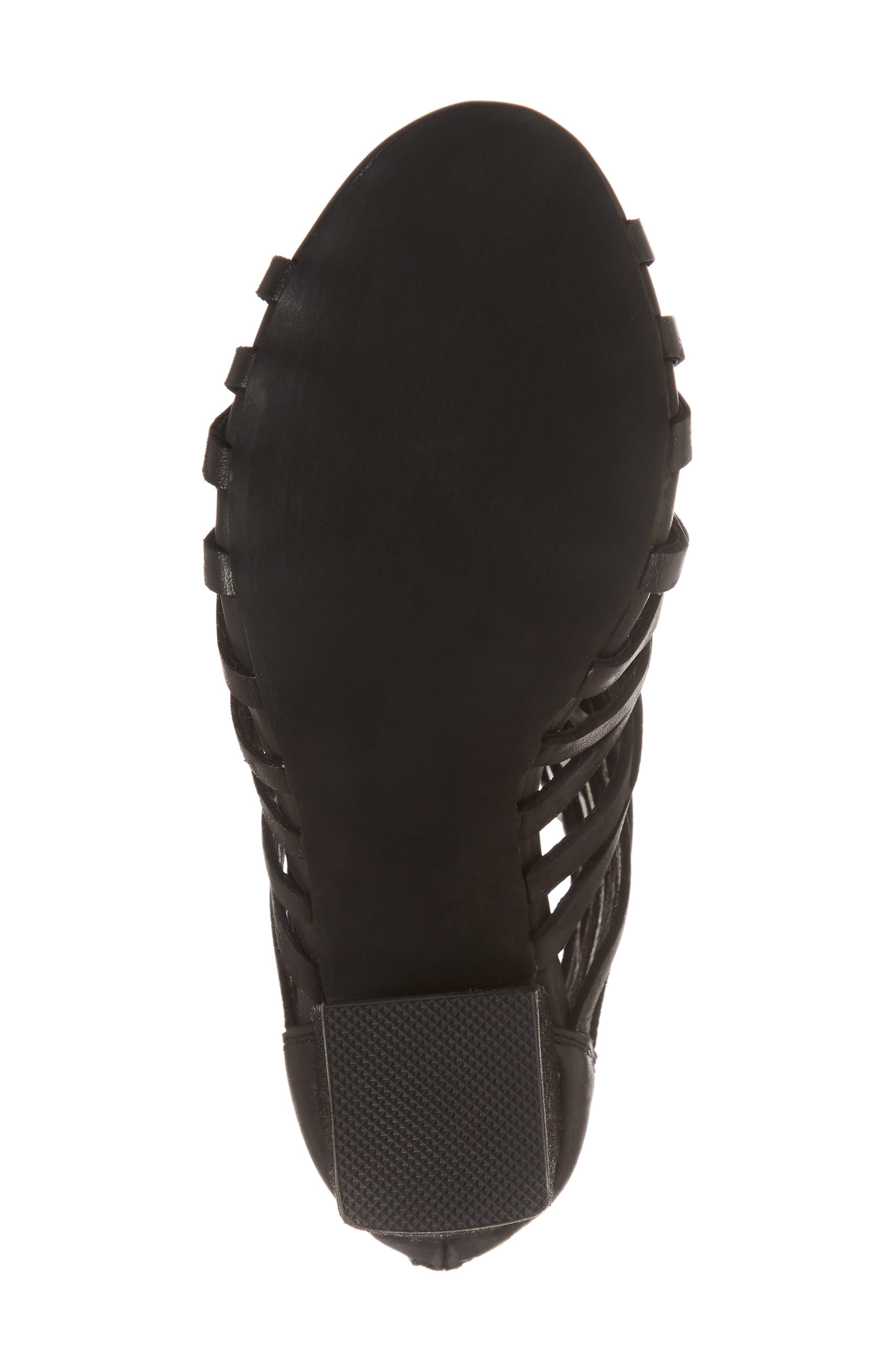 Despacito Bootie,                             Alternate thumbnail 6, color,                             Black Distressed Leather
