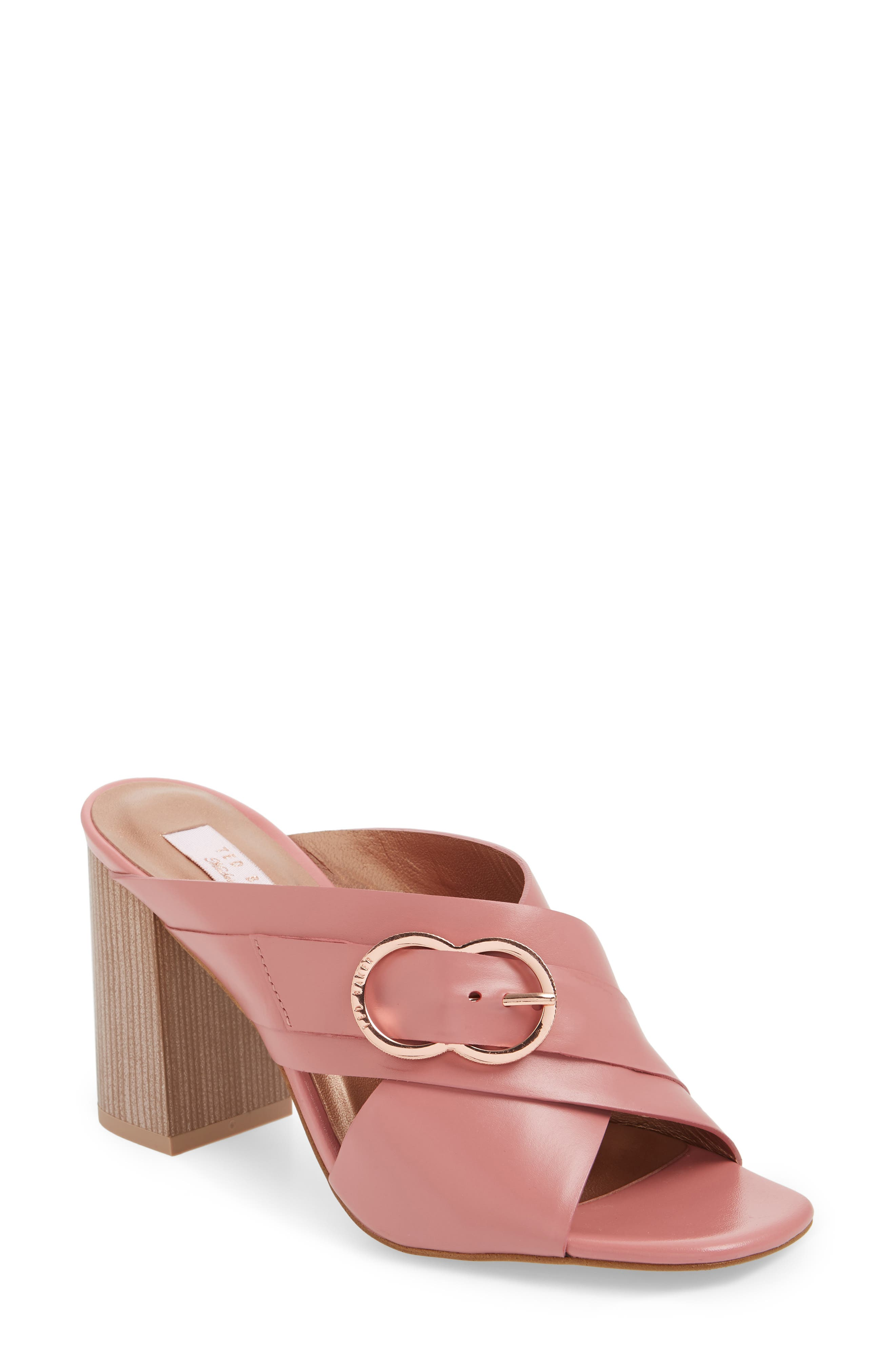 Malada Slide Sandal,                             Main thumbnail 1, color,                             Pink Leather