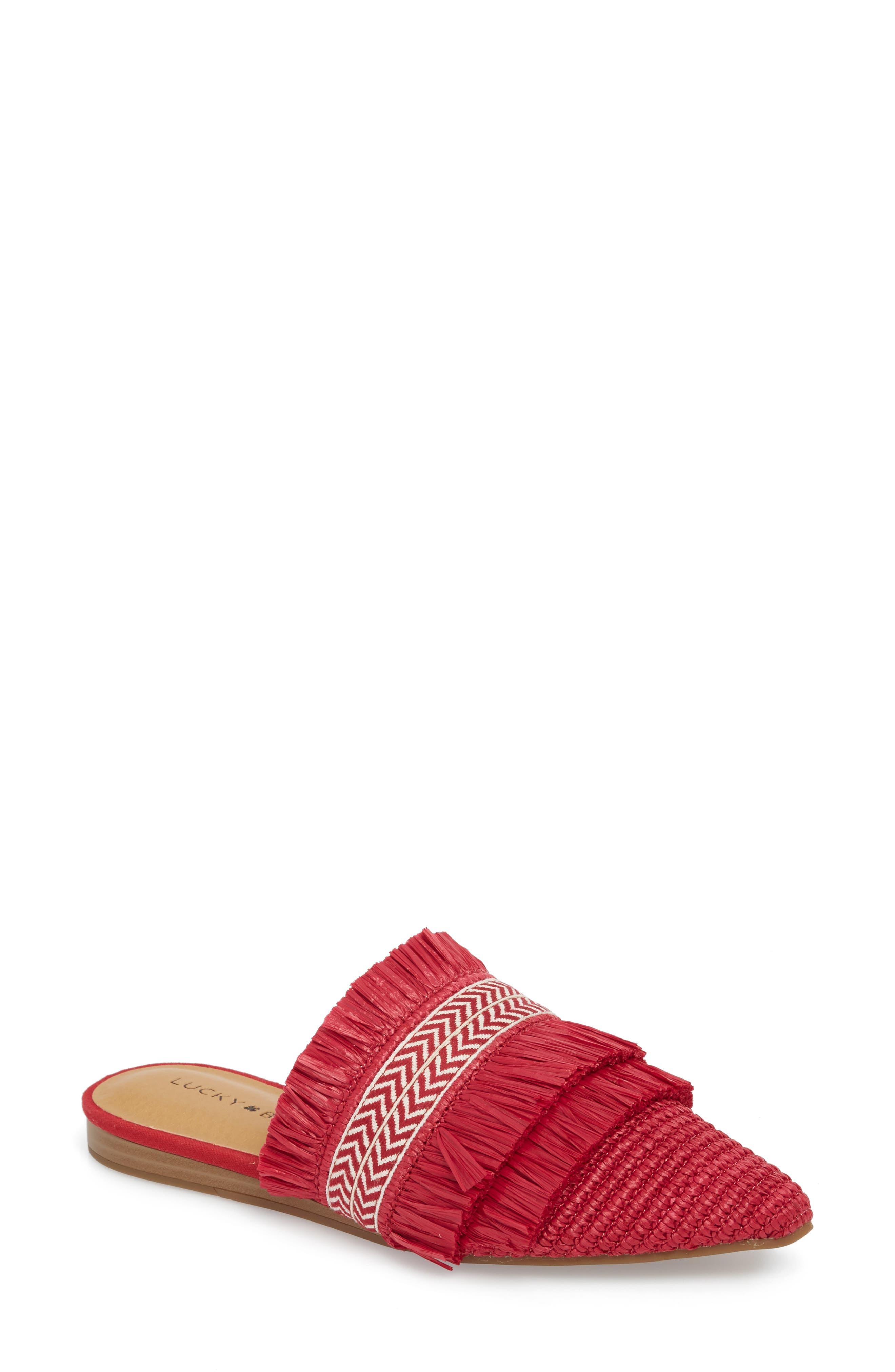 Baoss Mule,                         Main,                         color, Sb Red Leather