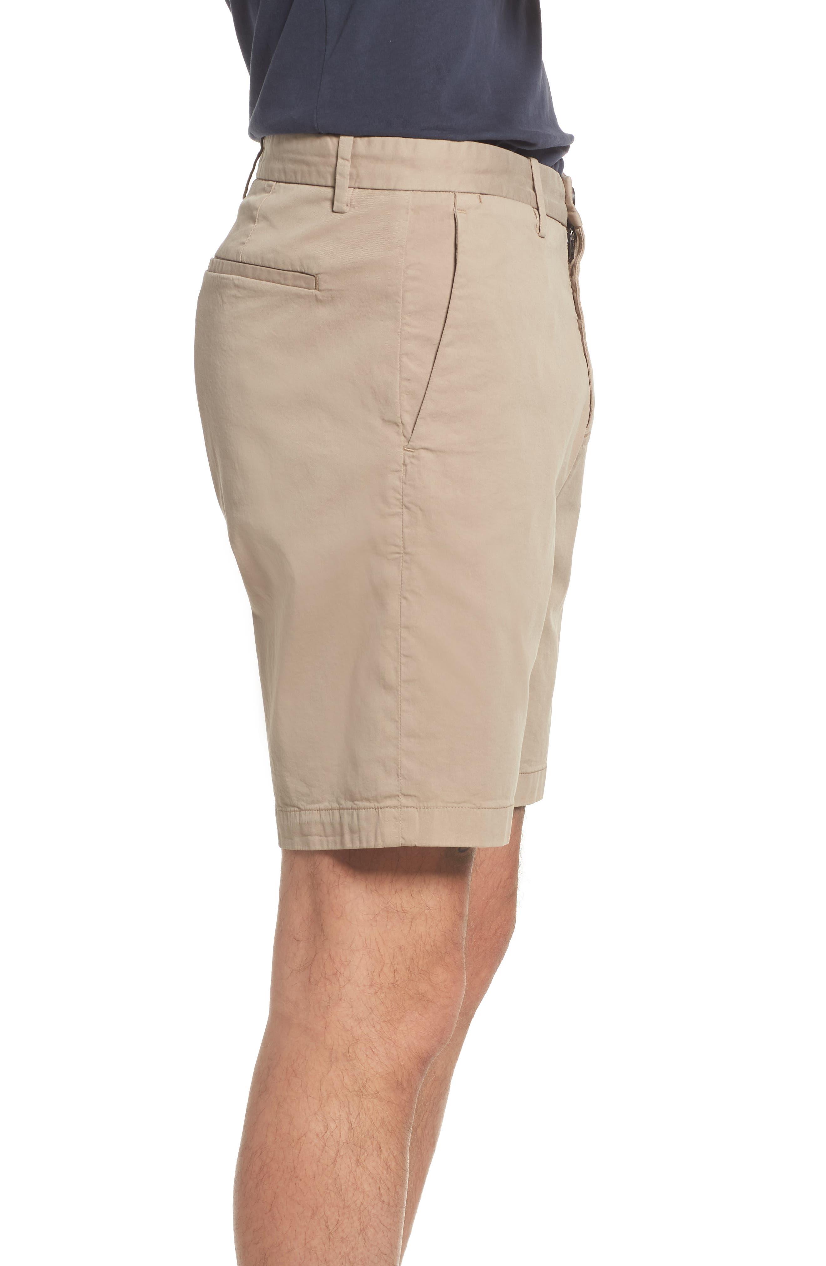 Zaine Stretch Cotton Shorts,                             Alternate thumbnail 3, color,                             Bark