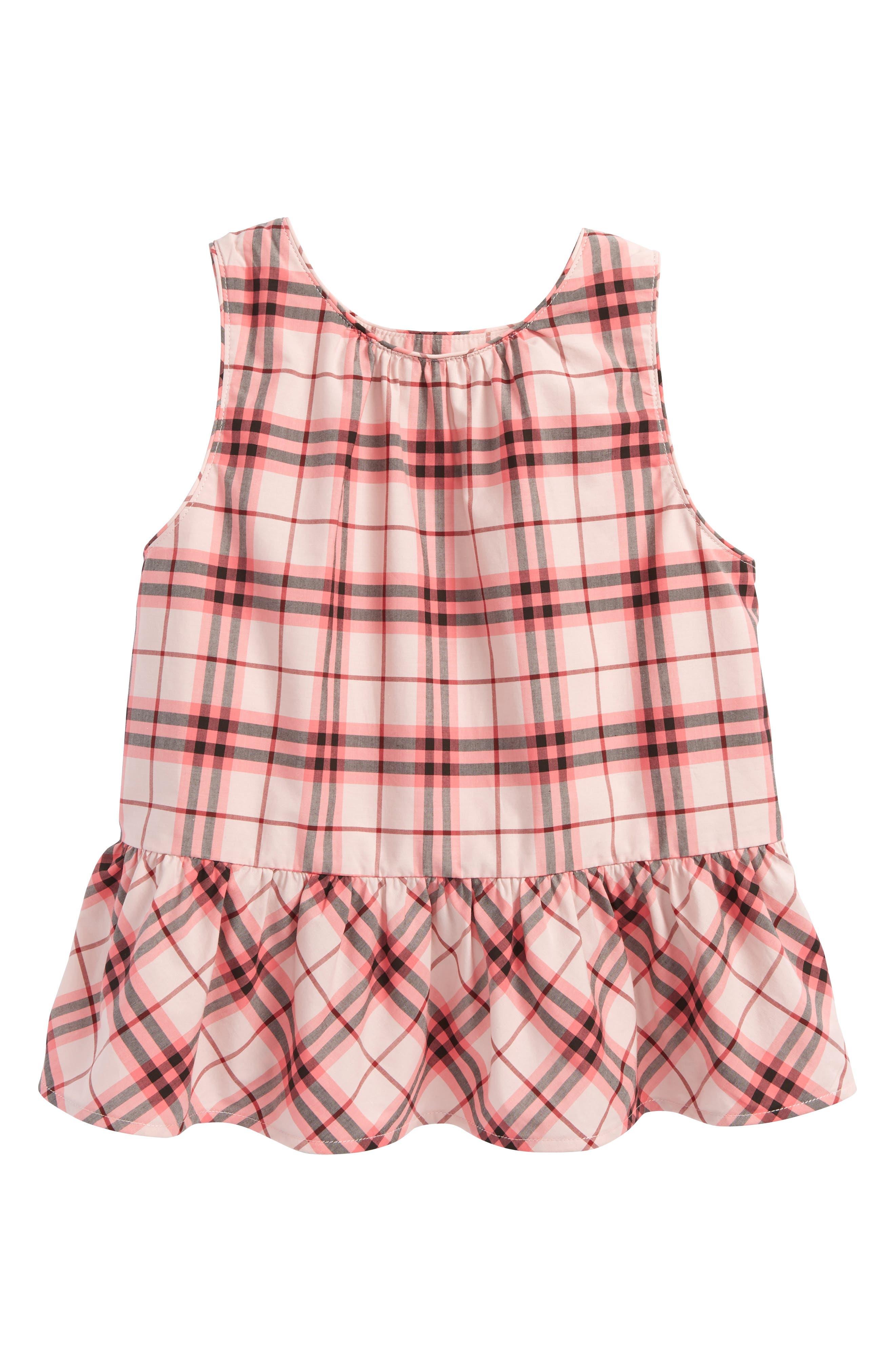 Burberry Carma Check Top (Little Girls & Big Girls)