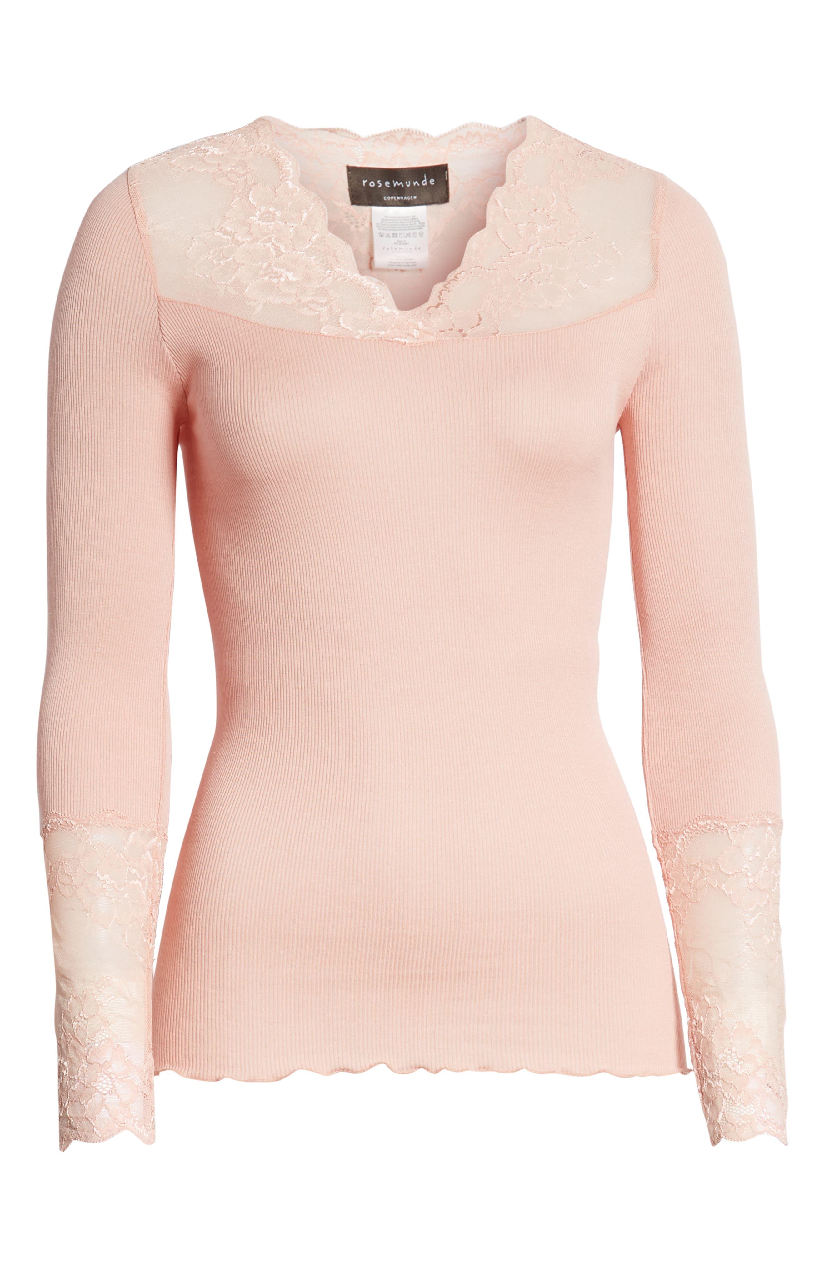 Alternate Image 6  - Rosemunde Brigit Lace Embellished Silk Blend Top