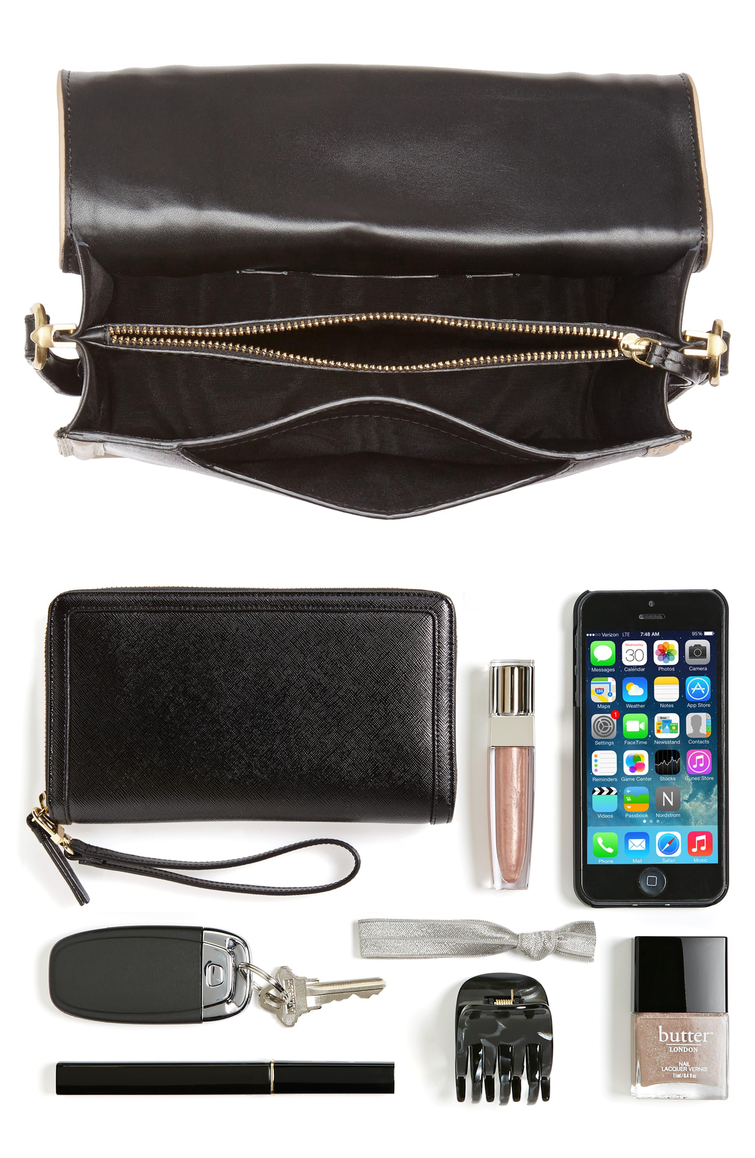 Small Square Top Handle Handbag,                             Alternate thumbnail 7, color,