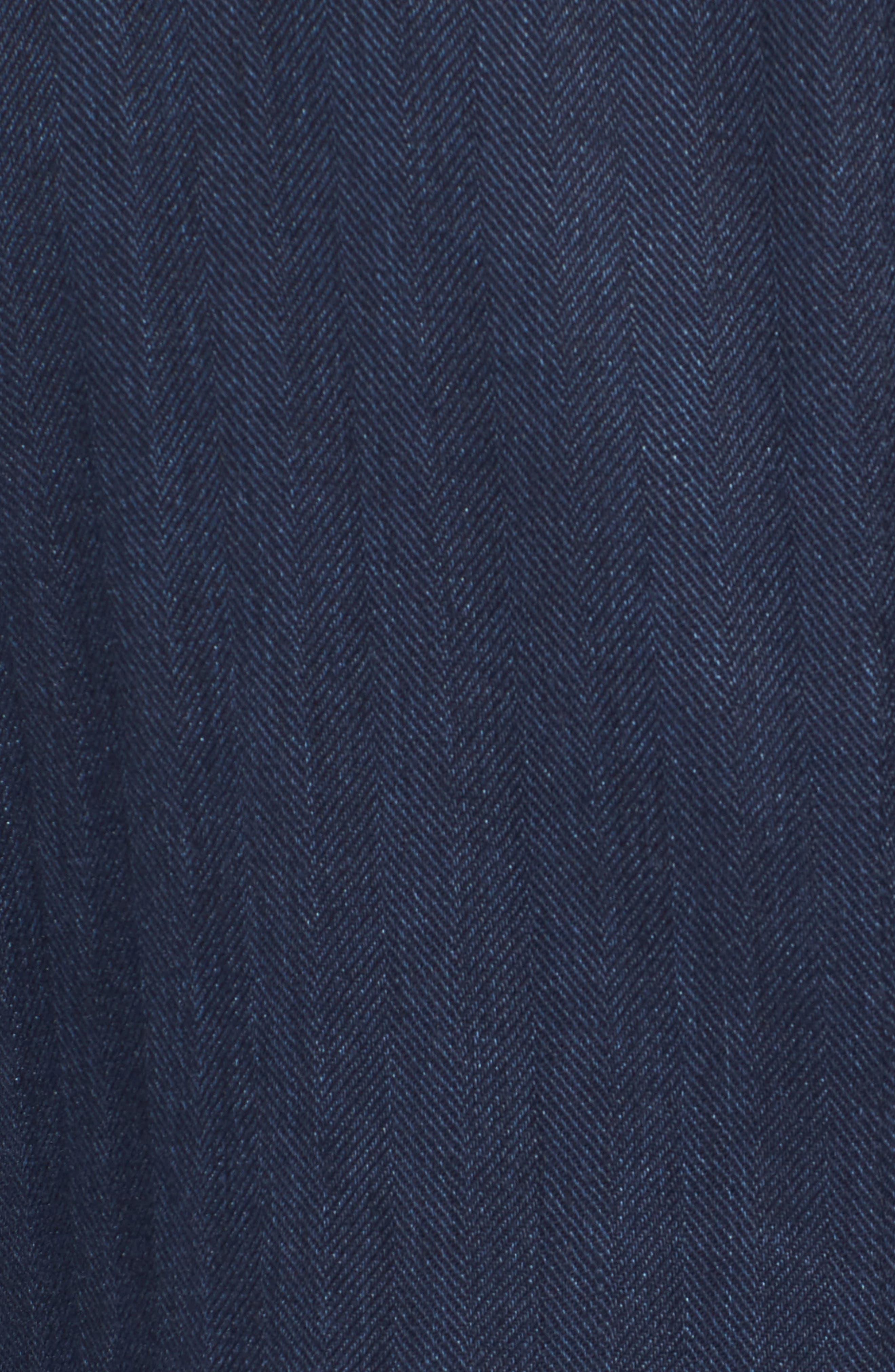 Herringbone Safari Blazer,                             Alternate thumbnail 5, color,                             Navy