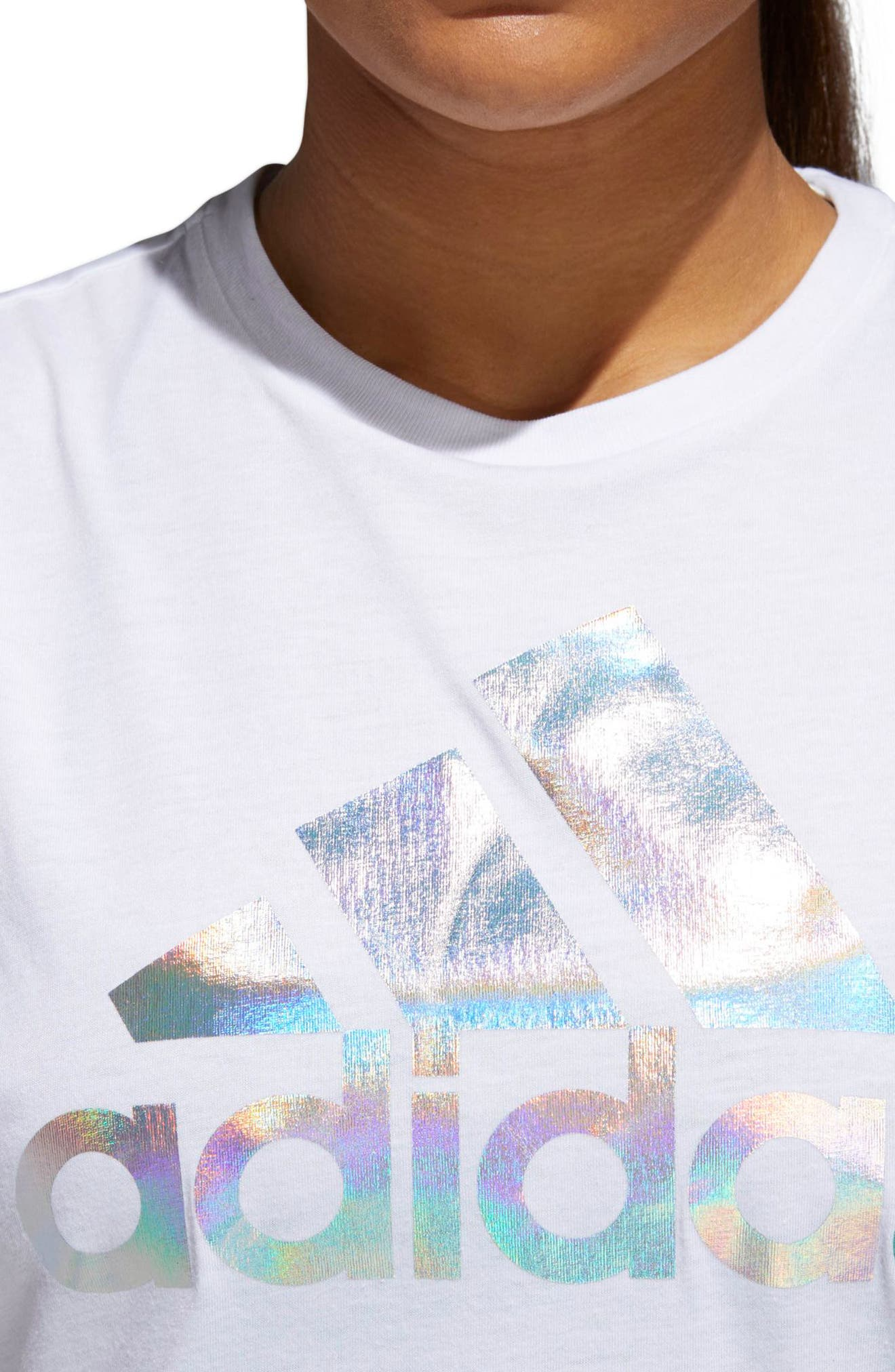 Iridescent Tank,                             Alternate thumbnail 4, color,                             White/ Multicolor