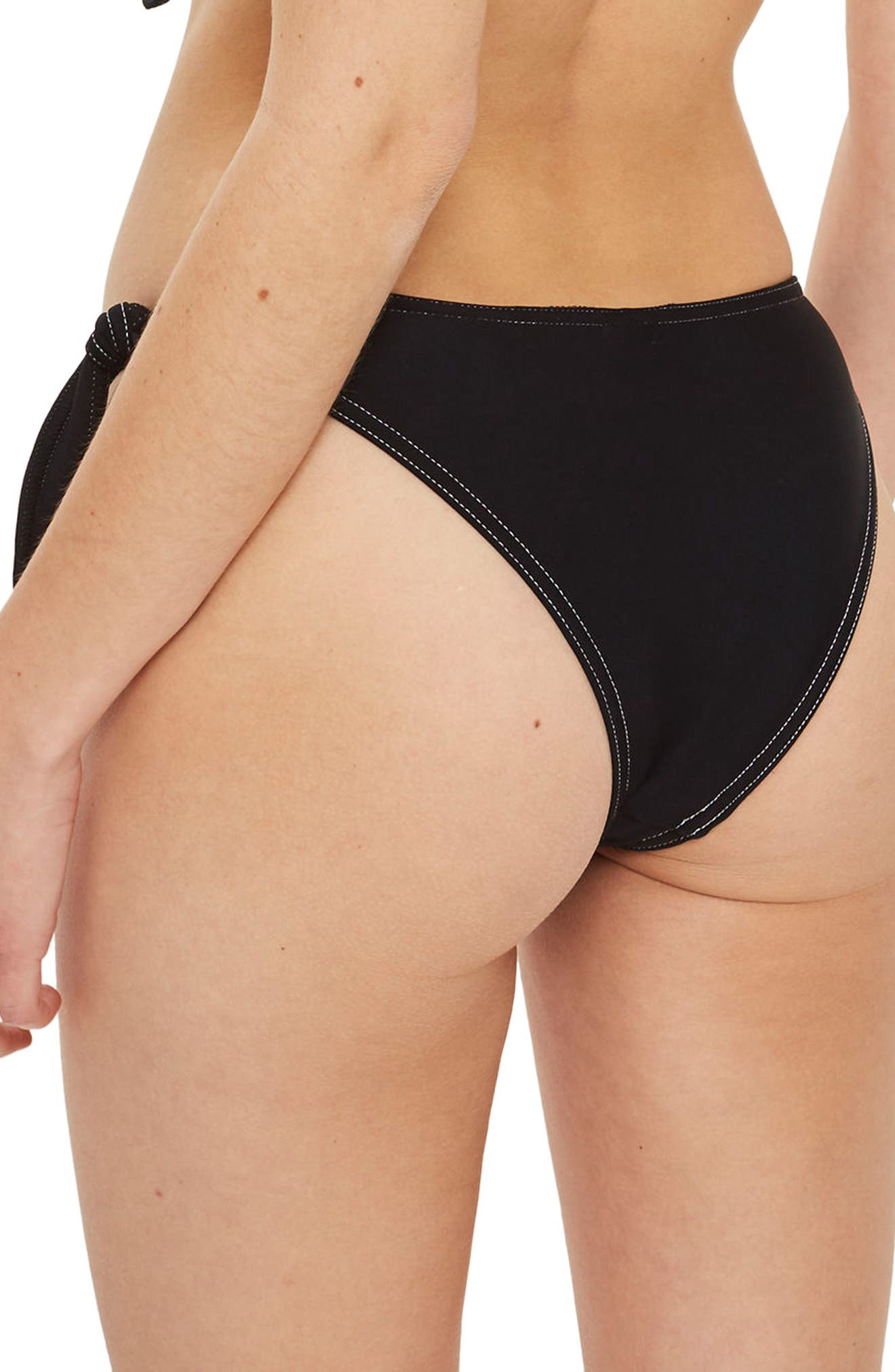 Wide Tie Swim Bottoms,                             Alternate thumbnail 3, color,                             Black