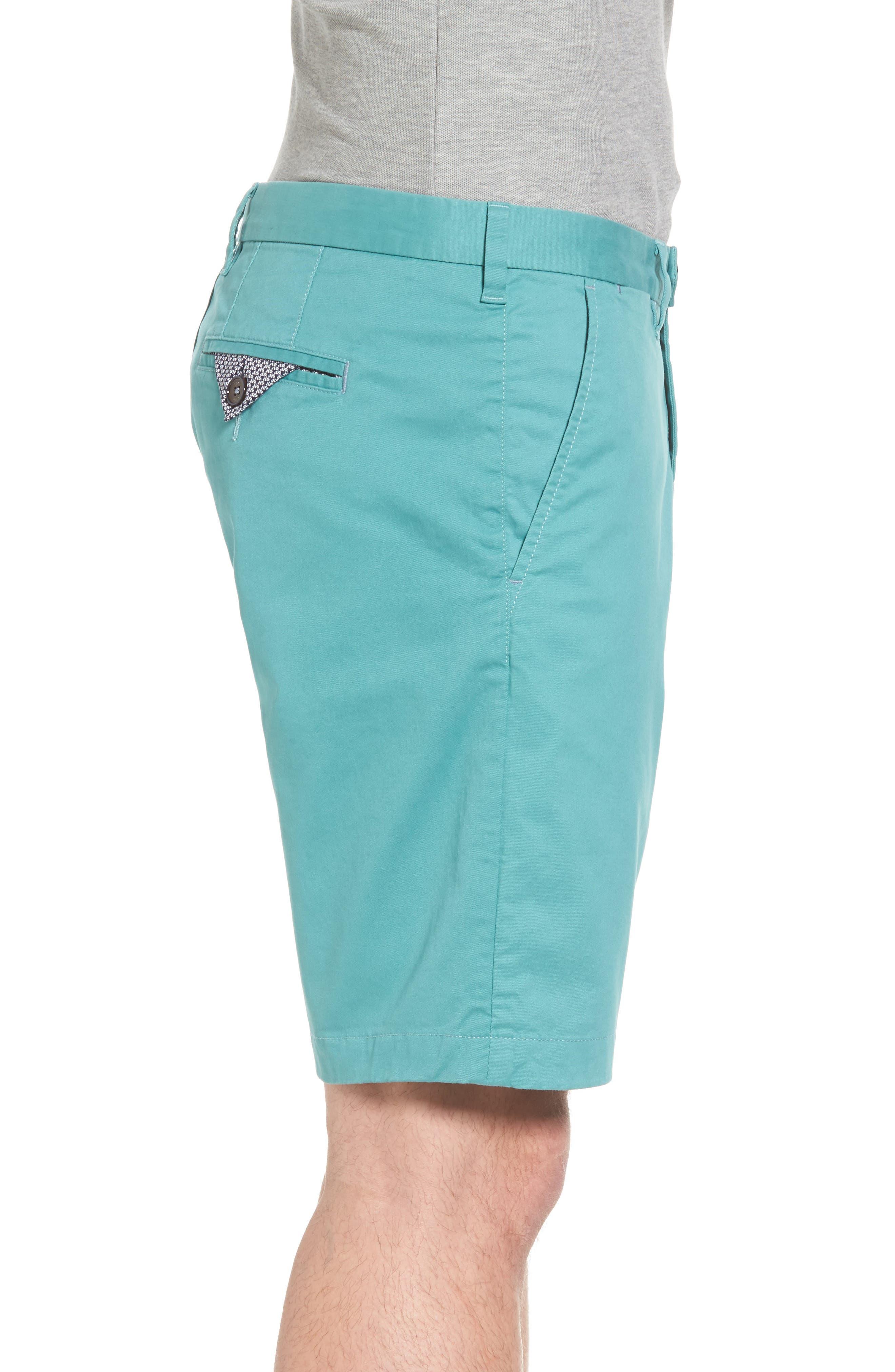 Proshtt Stretch Cotton Shorts,                             Alternate thumbnail 3, color,                             Pale Green