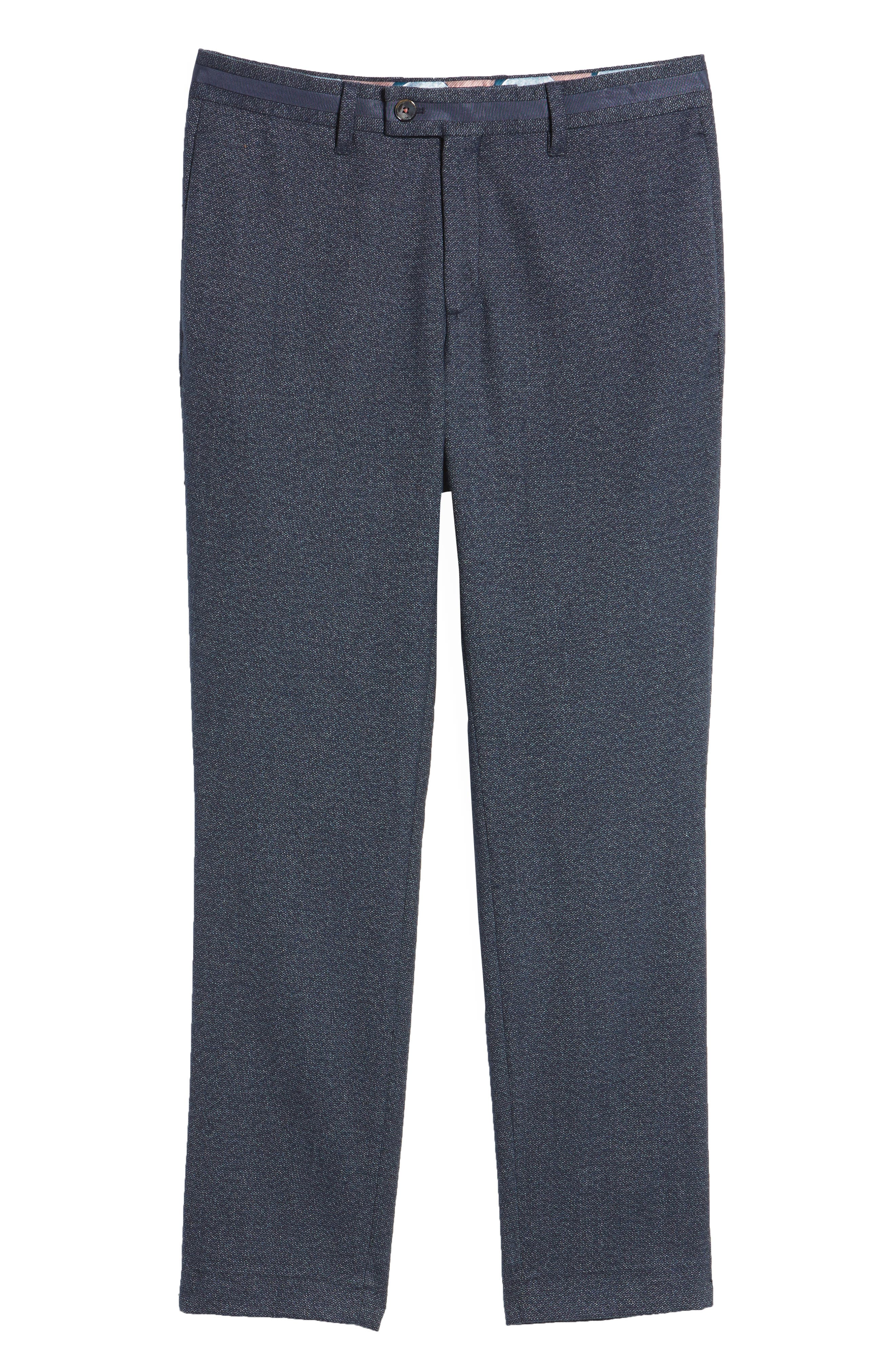 Alternate Image 6  - Ted Baker London Clifrot Flat Front Stretch Solid Cotton Pants