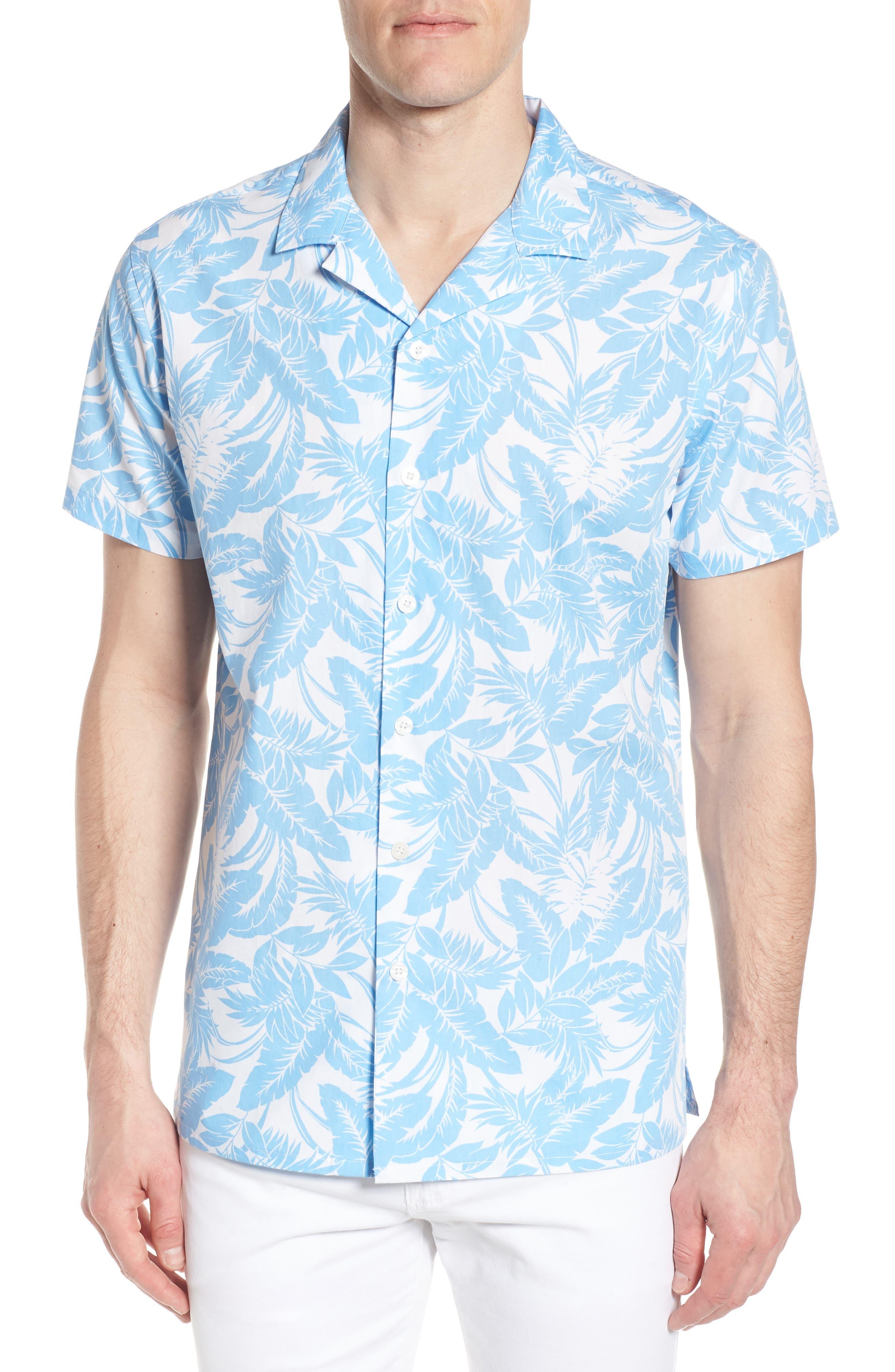 Camp Ventu Regular Fit Short Sleeve Sport Shirt,                             Main thumbnail 1, color,                             Sky