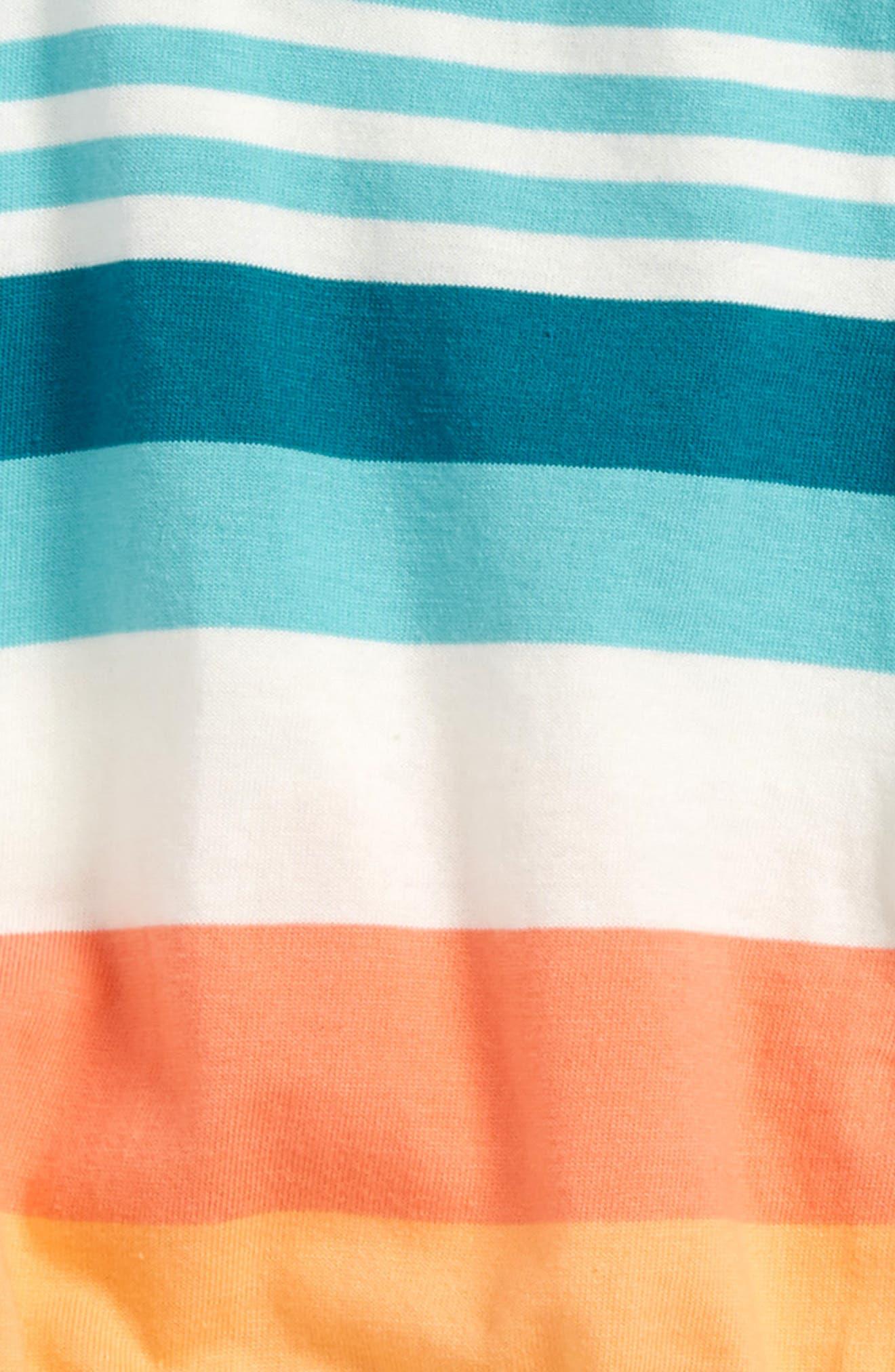 Vibrant Stripe Romper,                             Alternate thumbnail 2, color,                             Citrus