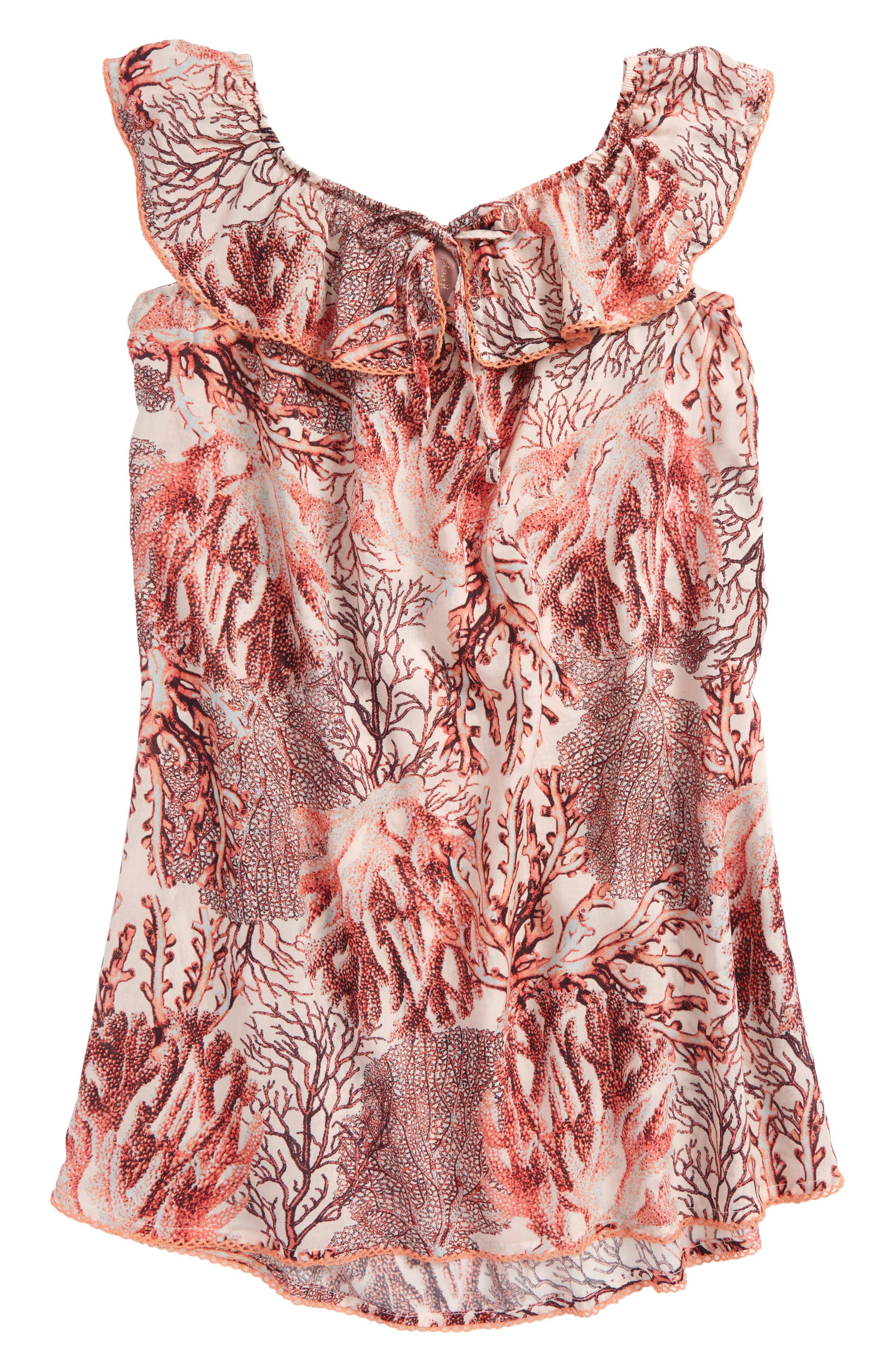 Main Image - Maaji Starfish Wishes Ruffle Cover-Up Dress (Big Girls)