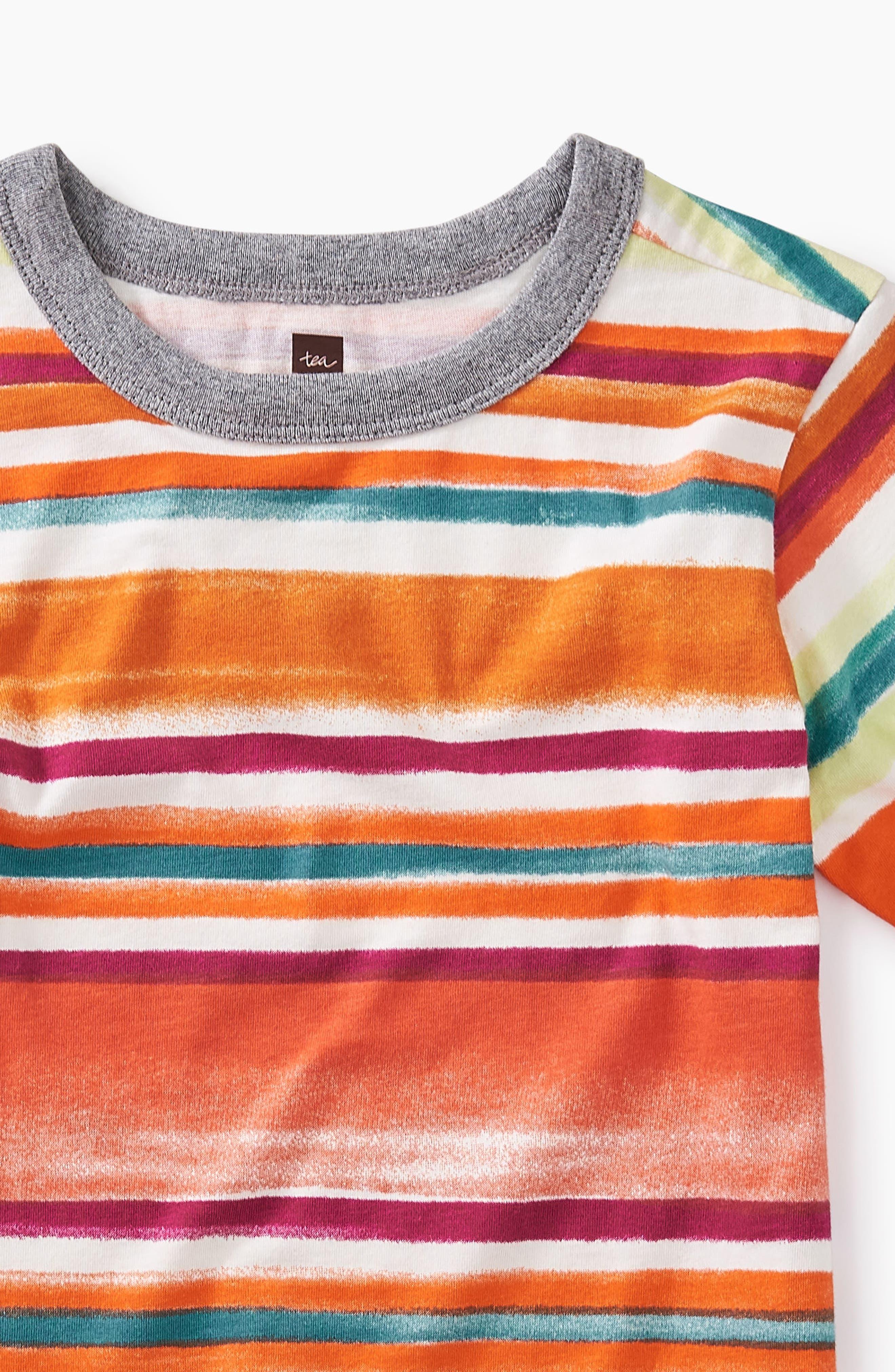 Painterly Stripe T-Shirt,                             Alternate thumbnail 2, color,                             Southwest Sky