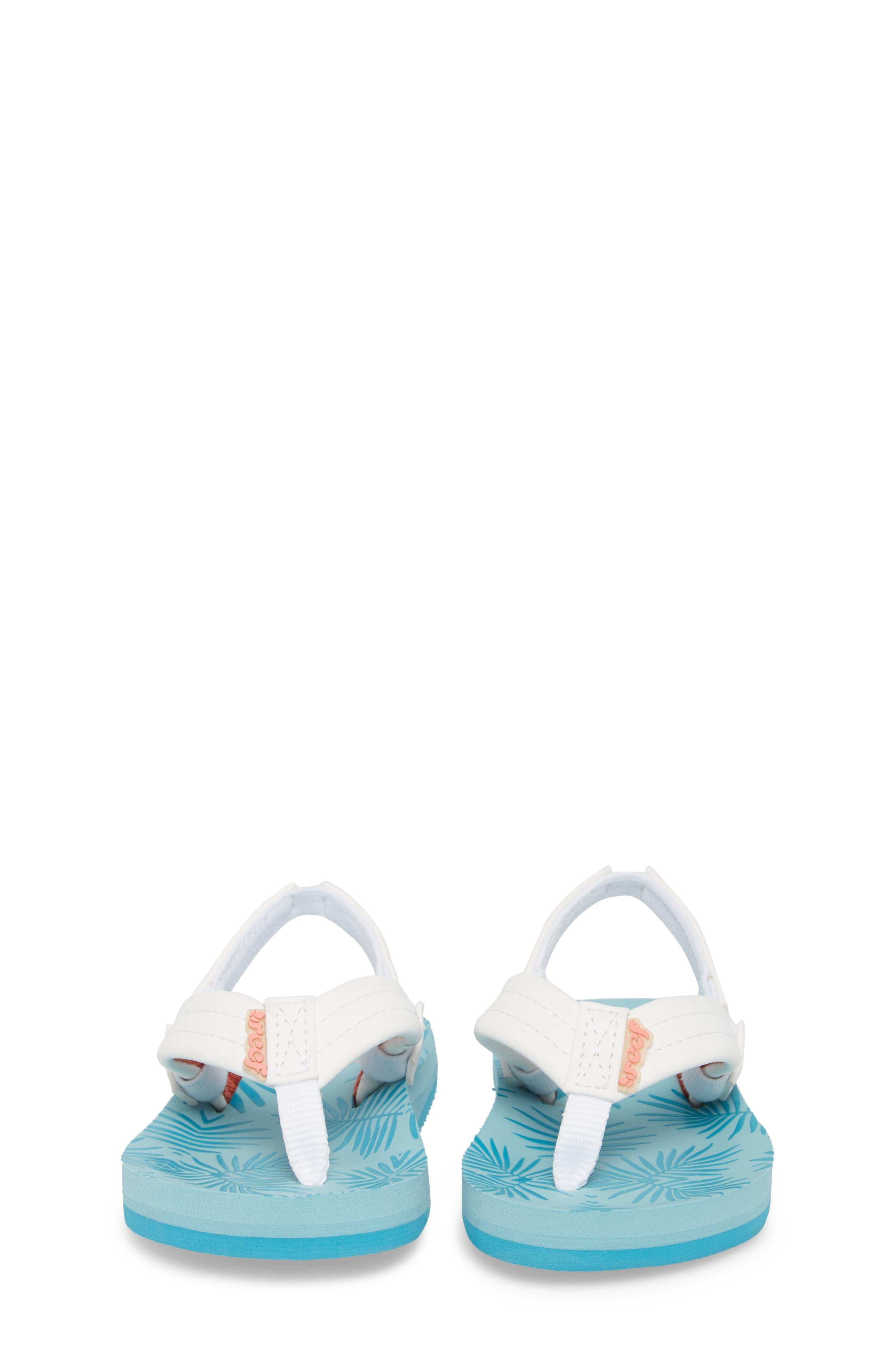 Little Reef Footprints Sandal,                             Alternate thumbnail 5, color,                             Blue