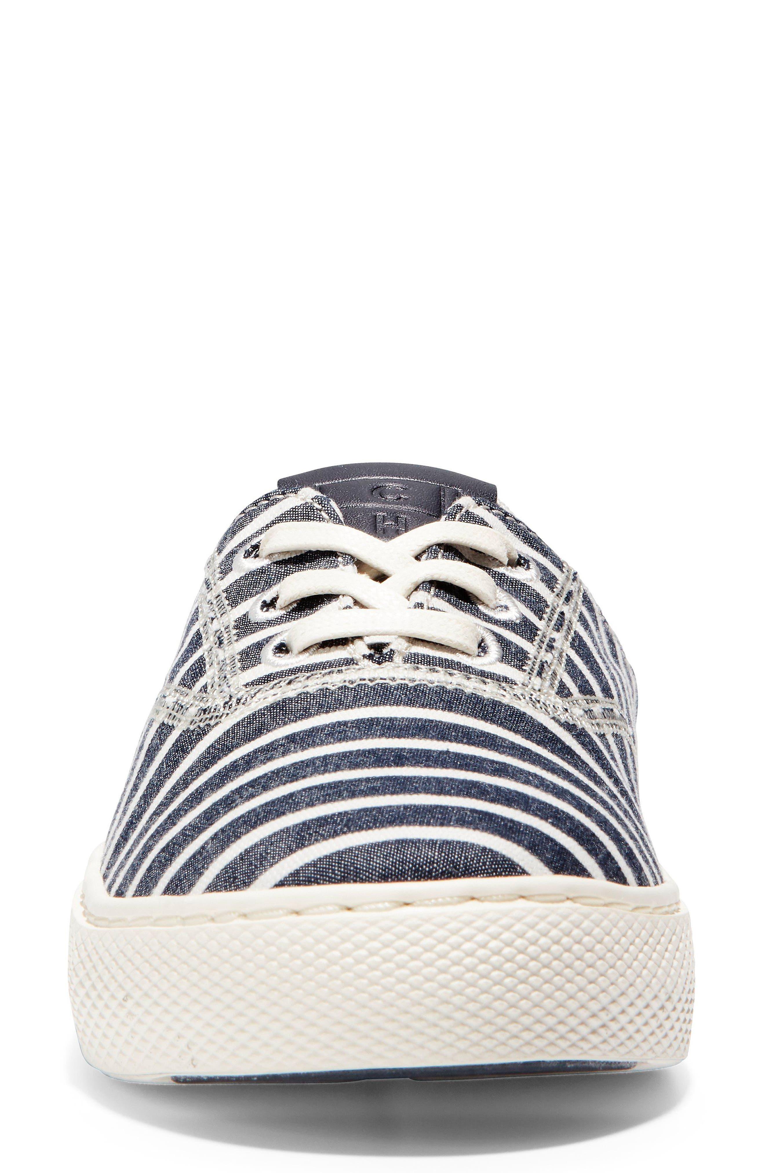 GrandPro Deck Sneaker,                             Alternate thumbnail 4, color,                             Freeport Stripe Fabric