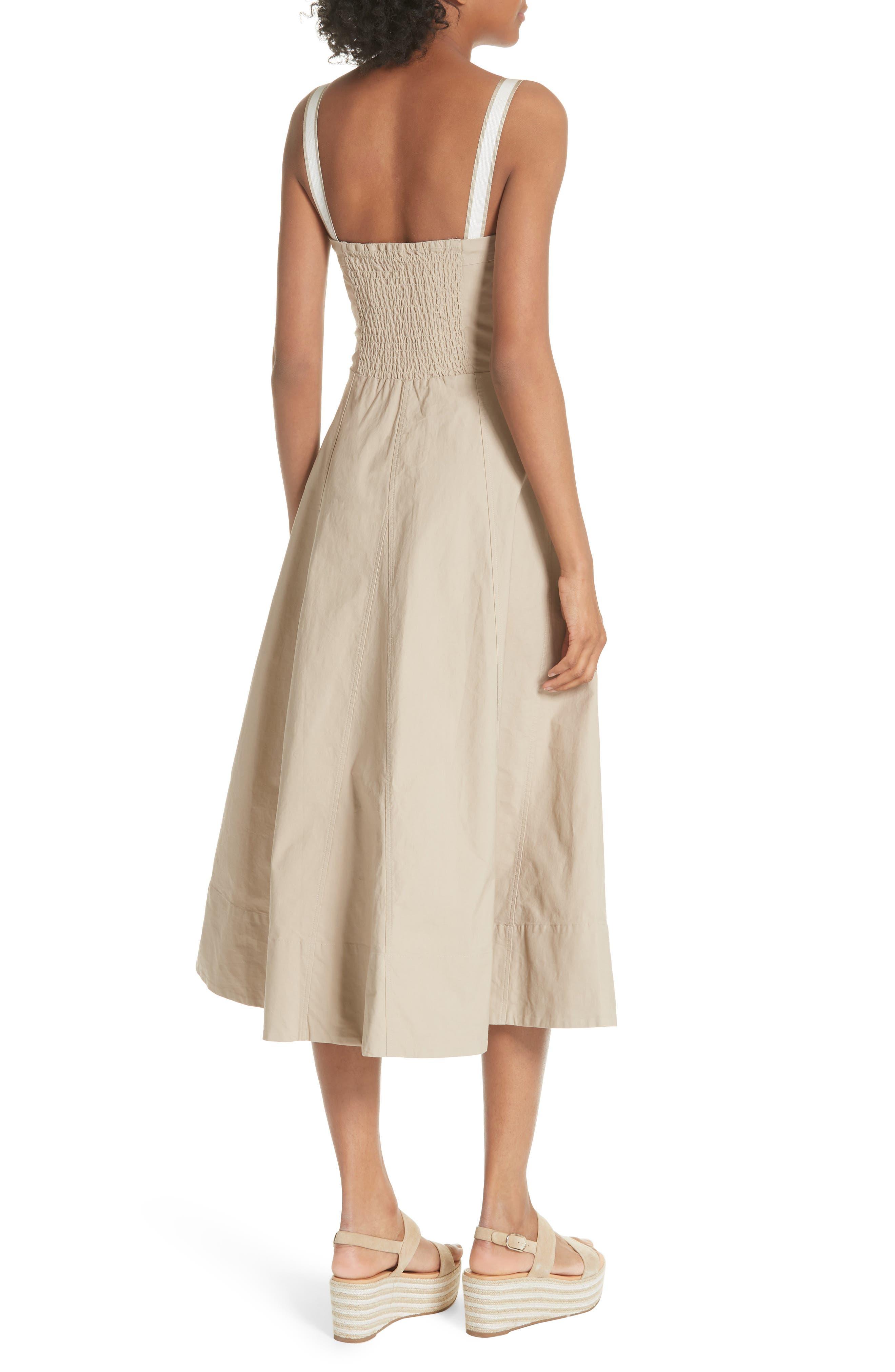 Briel Midi Dress,                             Alternate thumbnail 2, color,                             Light Sand
