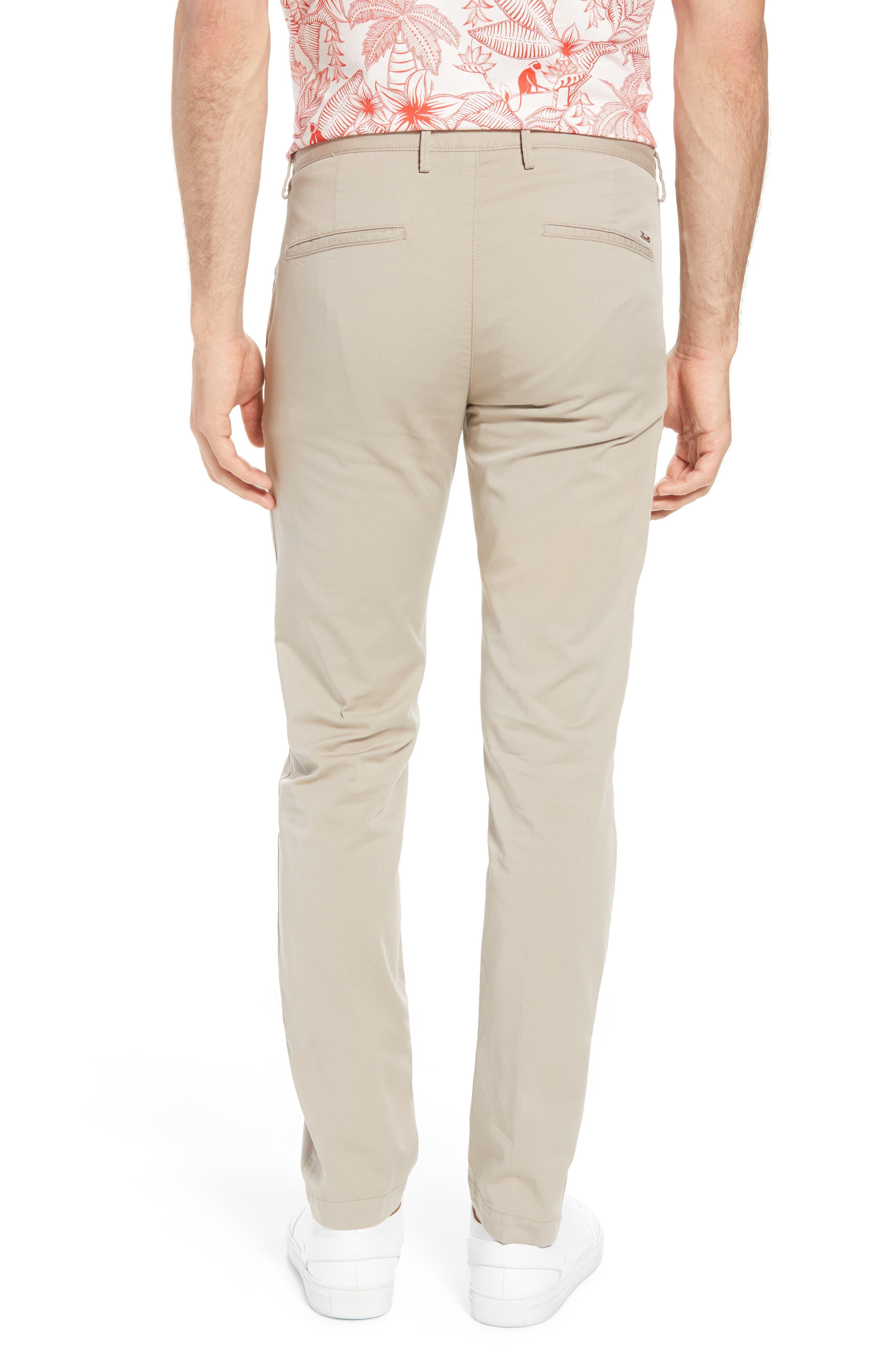 Rice Slim Fit Chino Pants,                             Alternate thumbnail 2, color,                             Brown