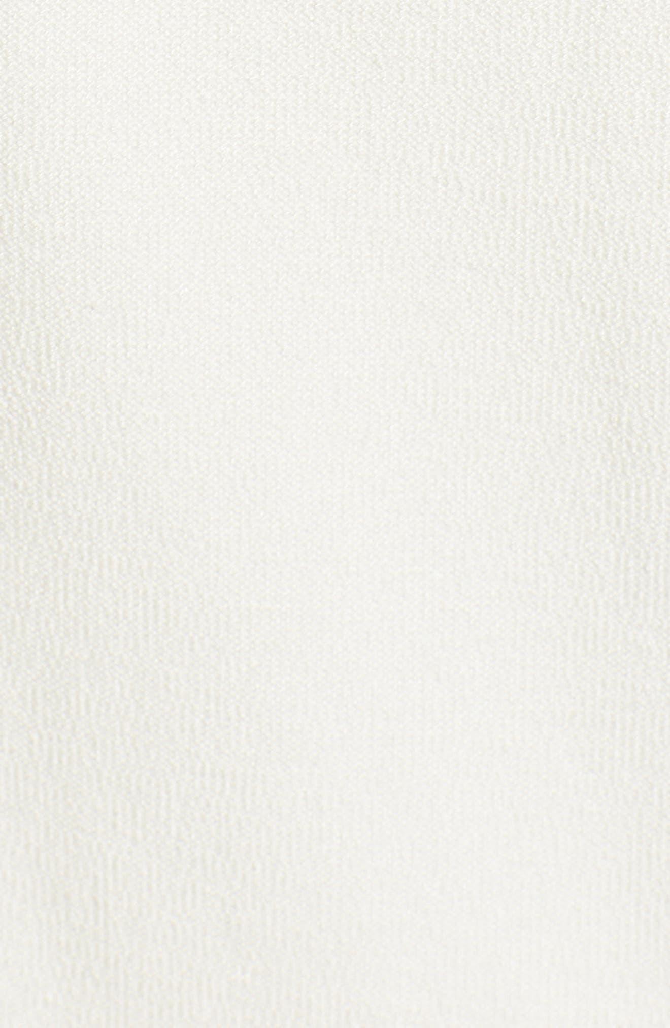 Washable Stretch Crepe Tie-Front Crop Wide Leg Pants,                             Alternate thumbnail 6, color,                             Bone
