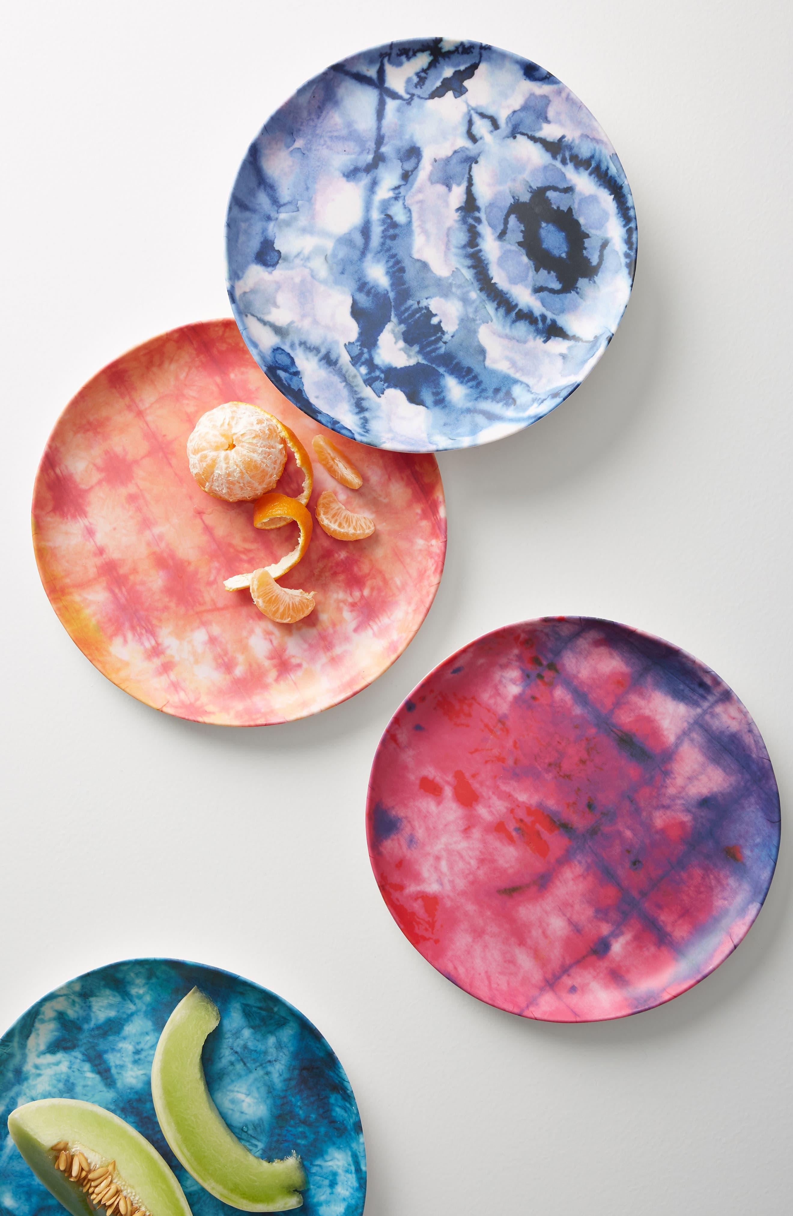 Mesa Melamine Plate,                             Alternate thumbnail 2, color,                             Blue Combo