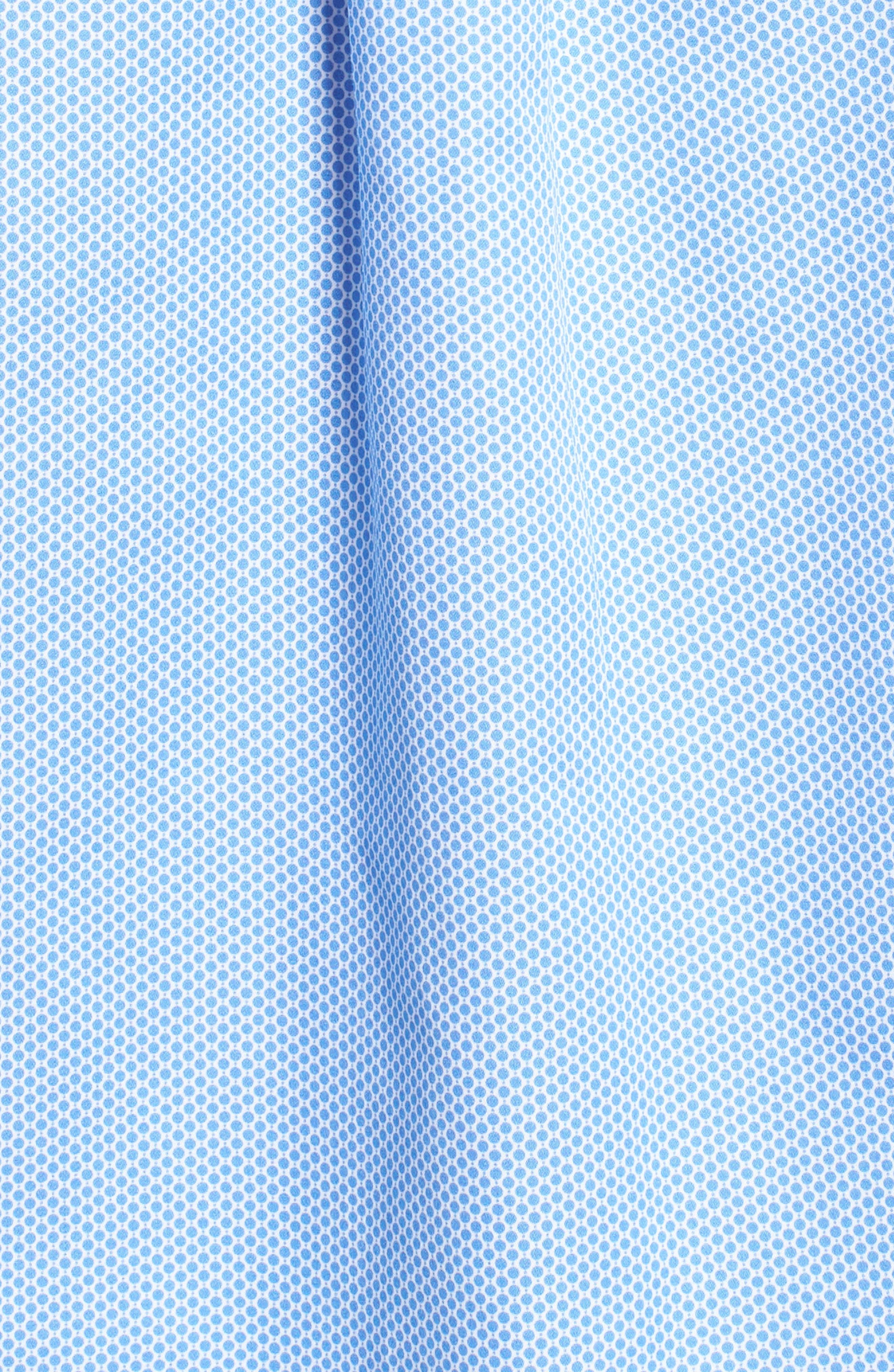 Crown Ease Connecting the Dots Sport Shirt,                             Alternate thumbnail 5, color,                             Atlas Blue
