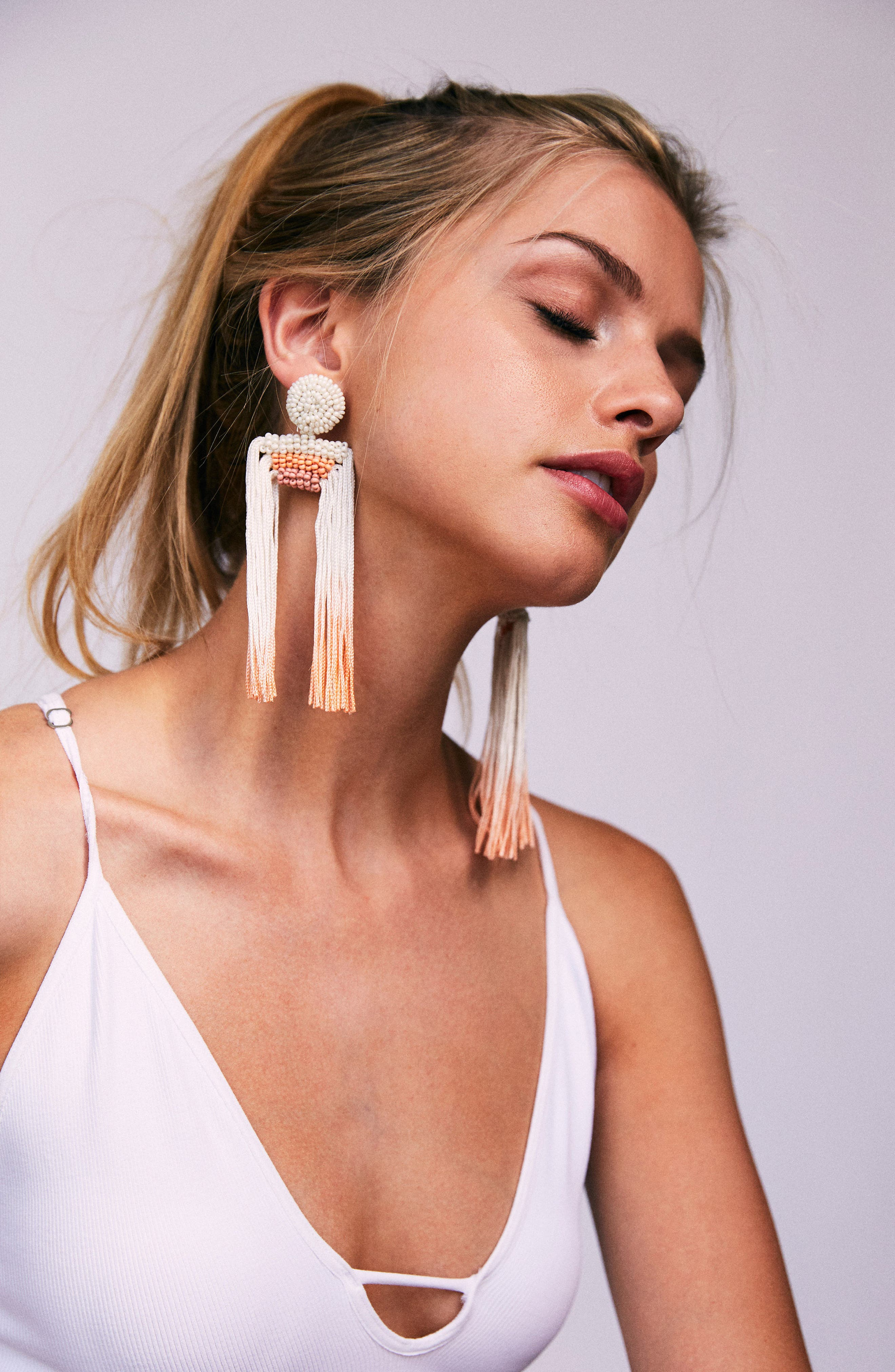 Tropicana Tassel Earrings,                             Alternate thumbnail 3, color,