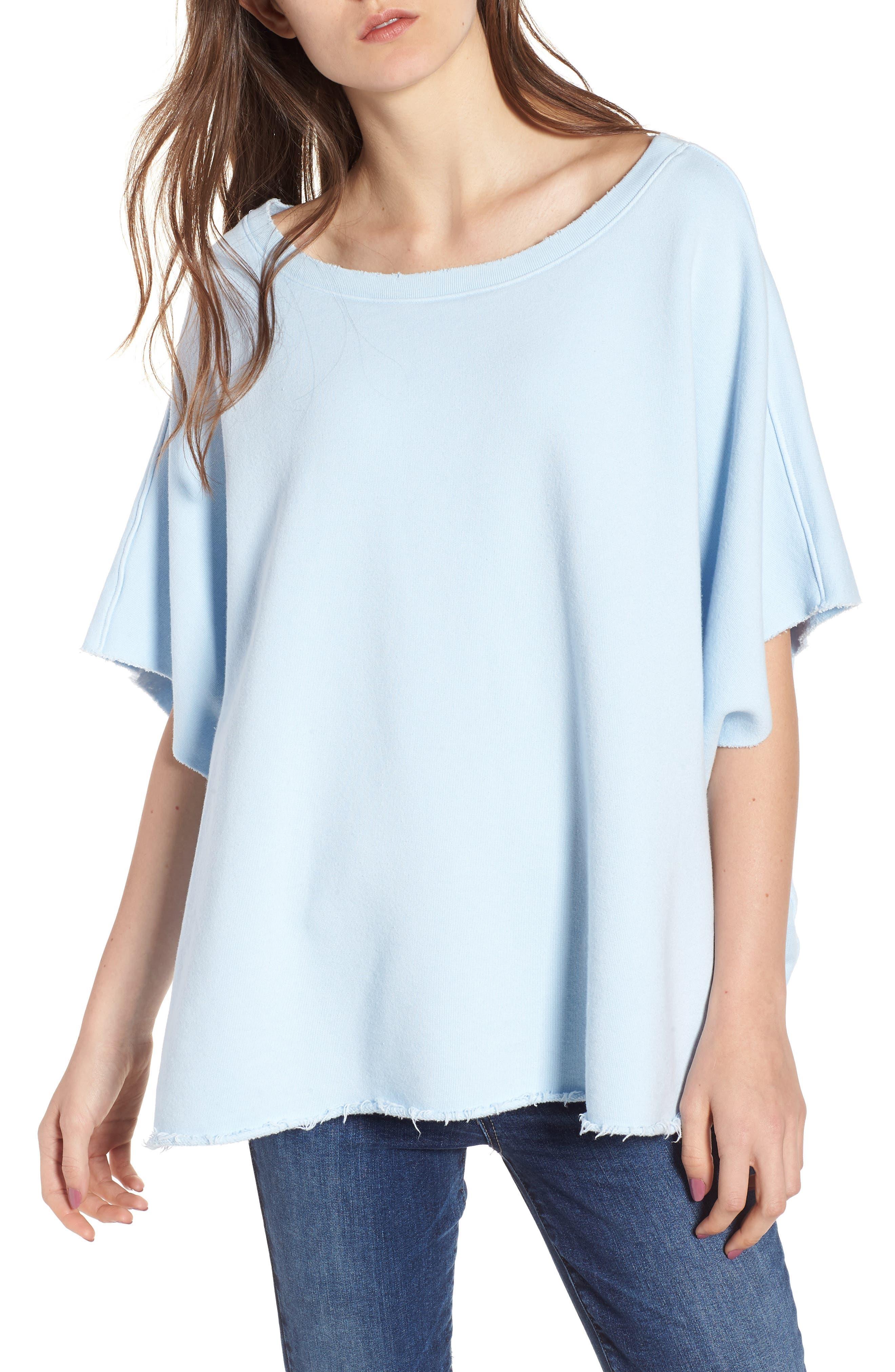 Capelet Sweatshirt,                         Main,                         color, Maliblue