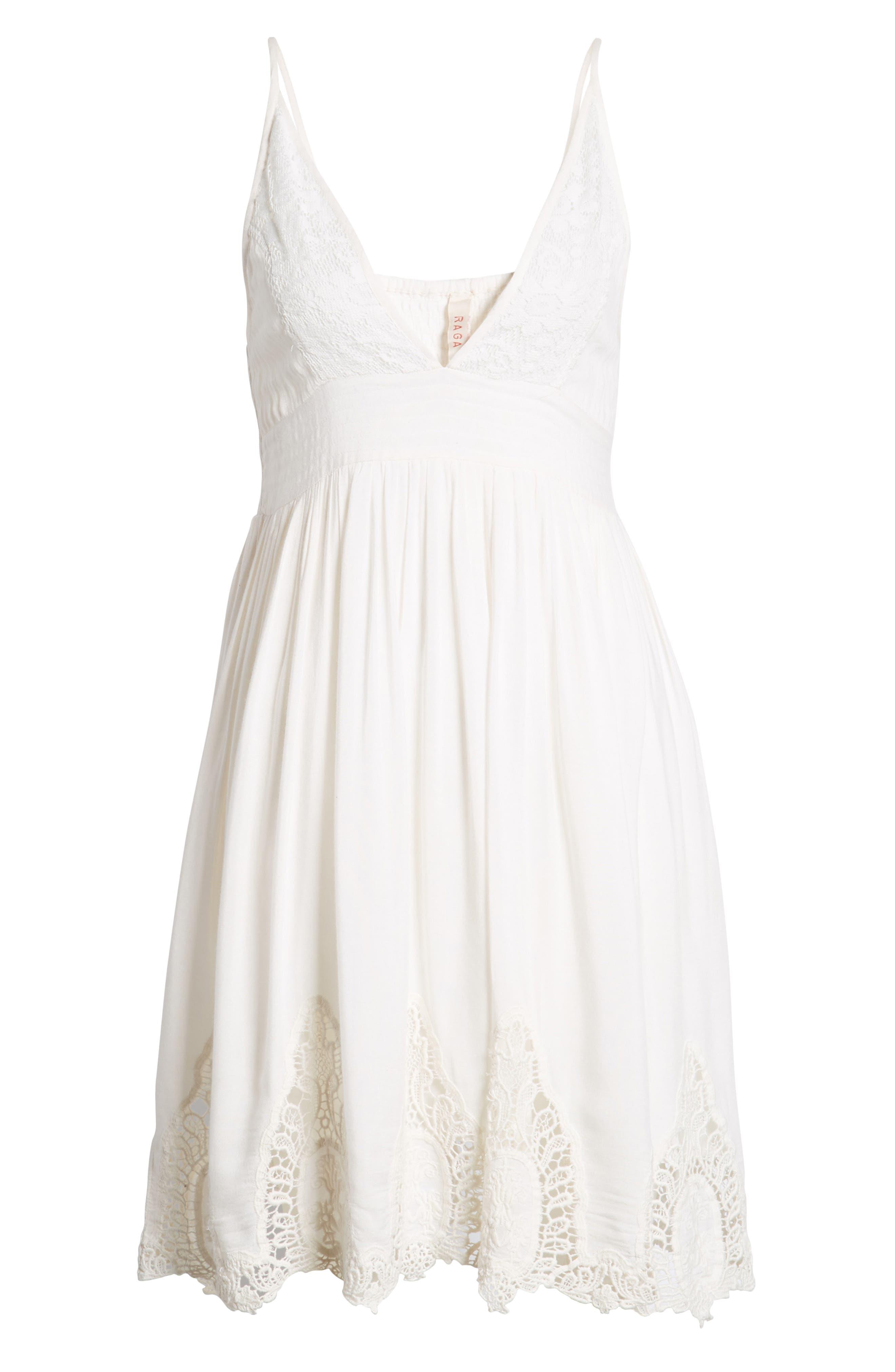Janika Crochet & Lace Trim Dress,                             Alternate thumbnail 8, color,                             Eggshell