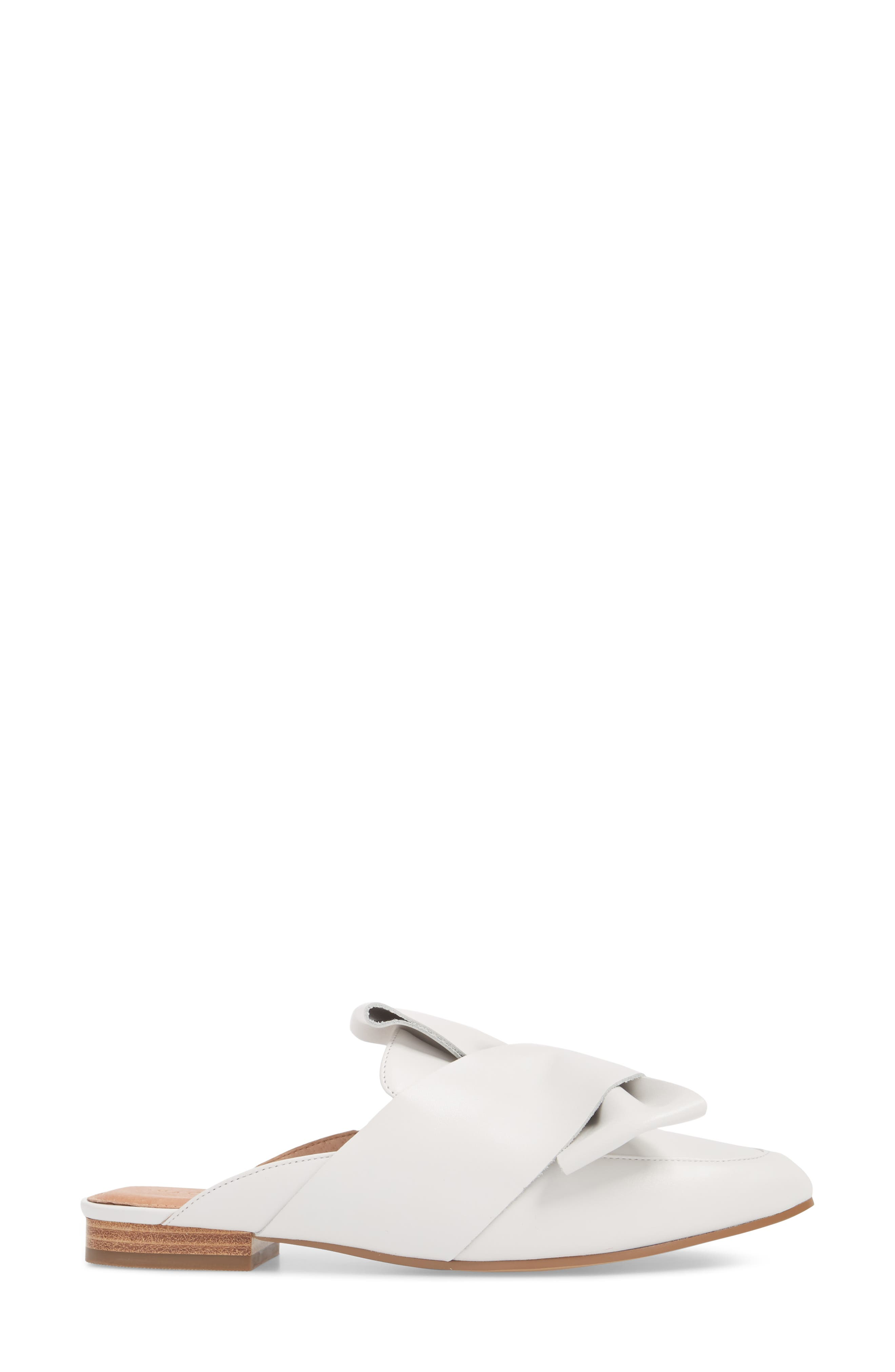 Coral Mule,                             Alternate thumbnail 3, color,                             White Leather