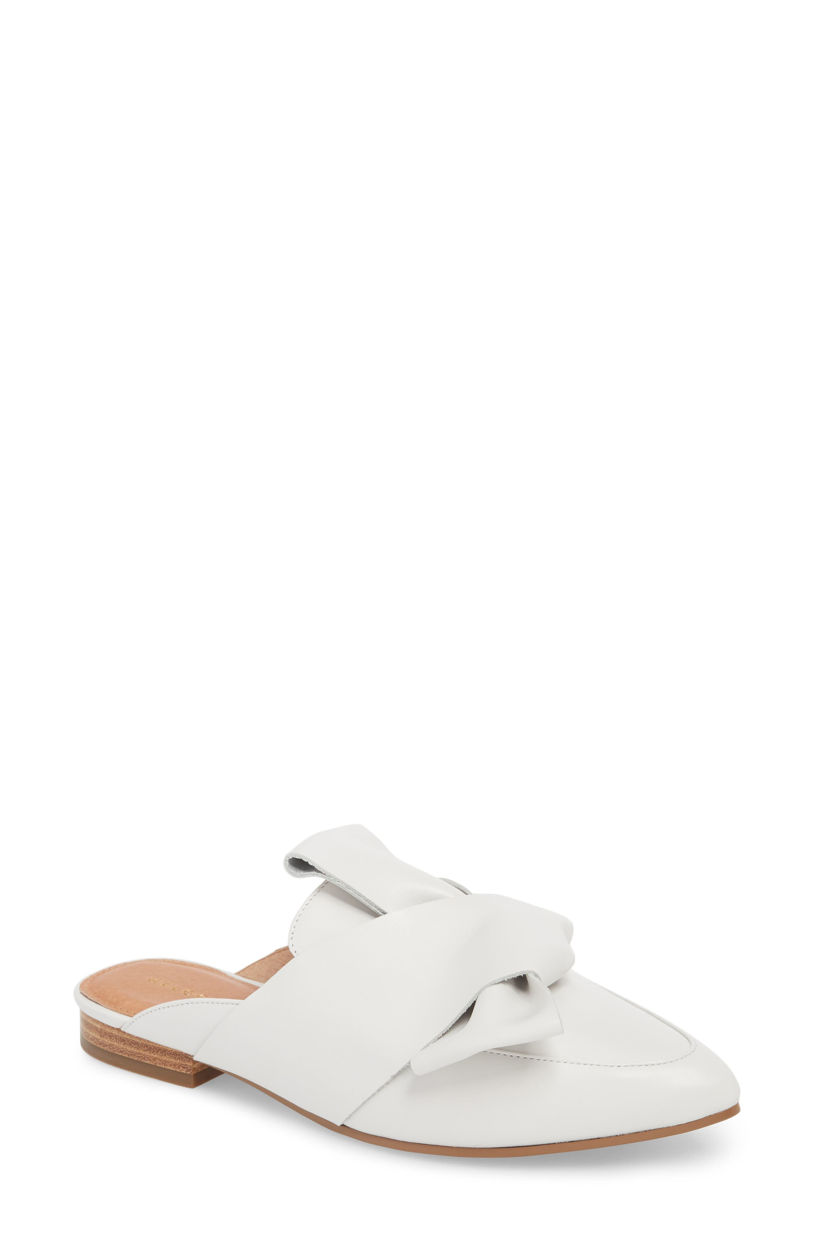 Coral Mule,                         Main,                         color, White Leather