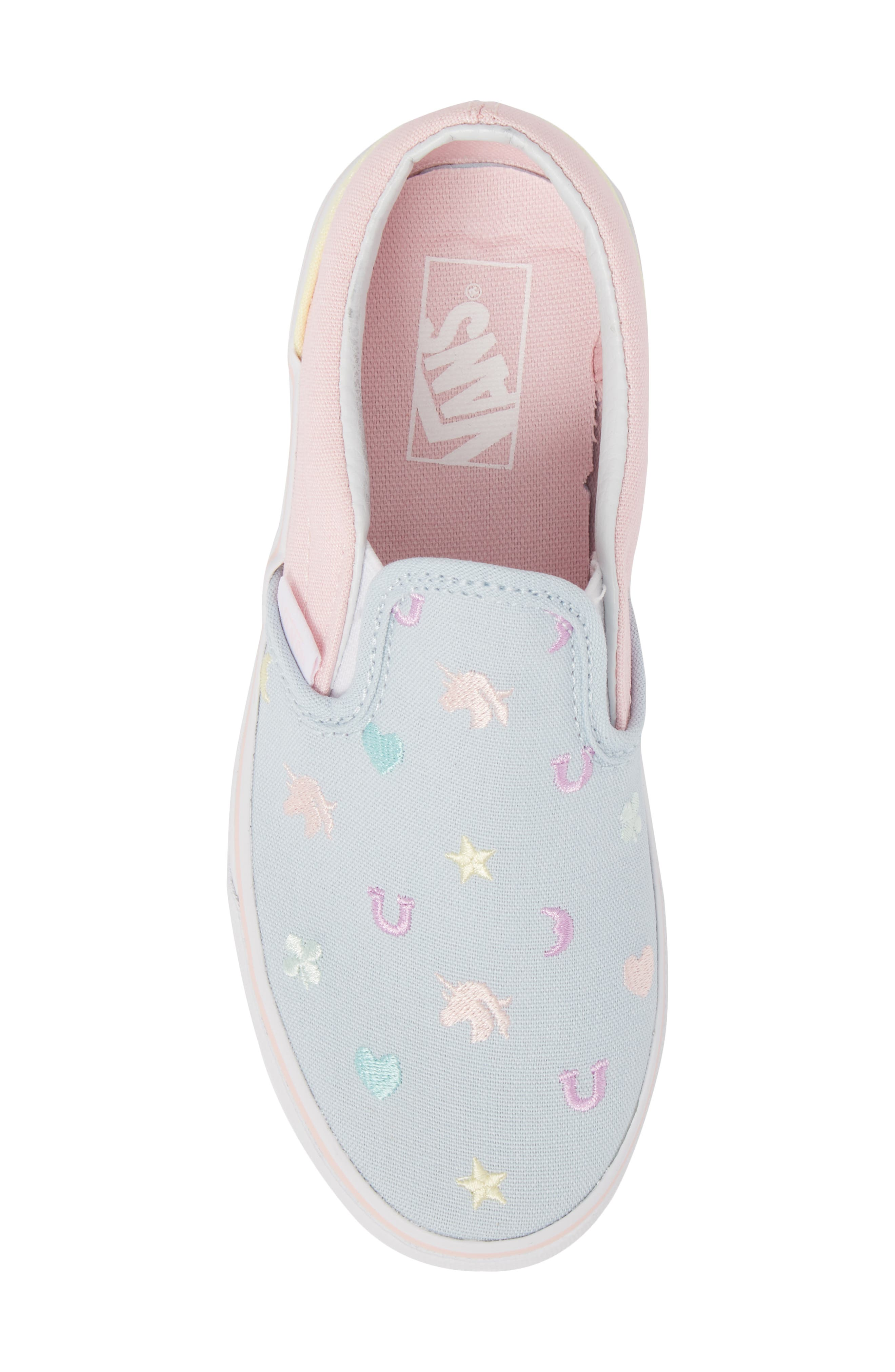 Classic Slip-On,                             Alternate thumbnail 5, color,                             Embroidered Multi Charms