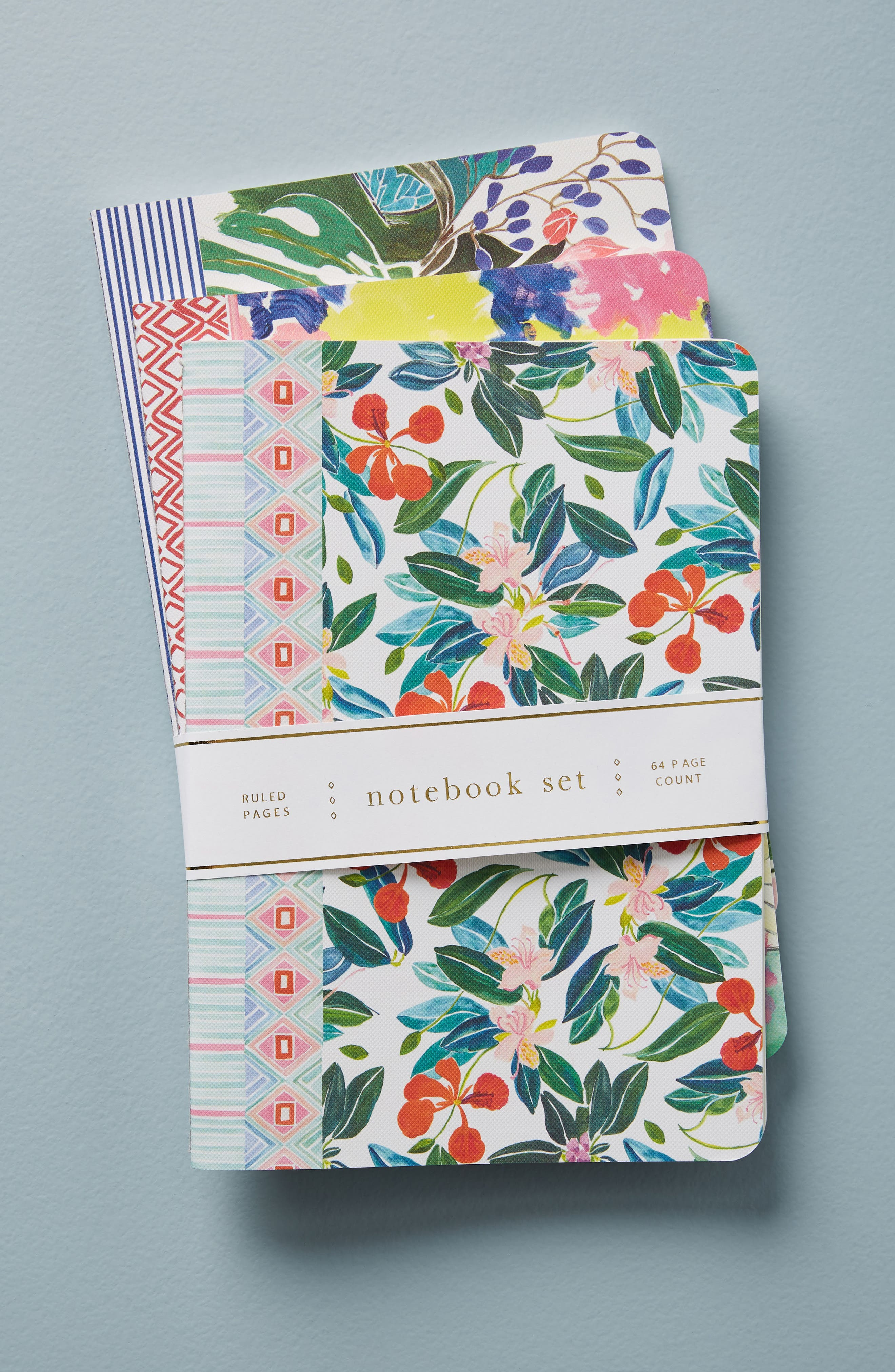 Sisters Gulassa Set of 3 Notebooks,                         Main,                         color, Green
