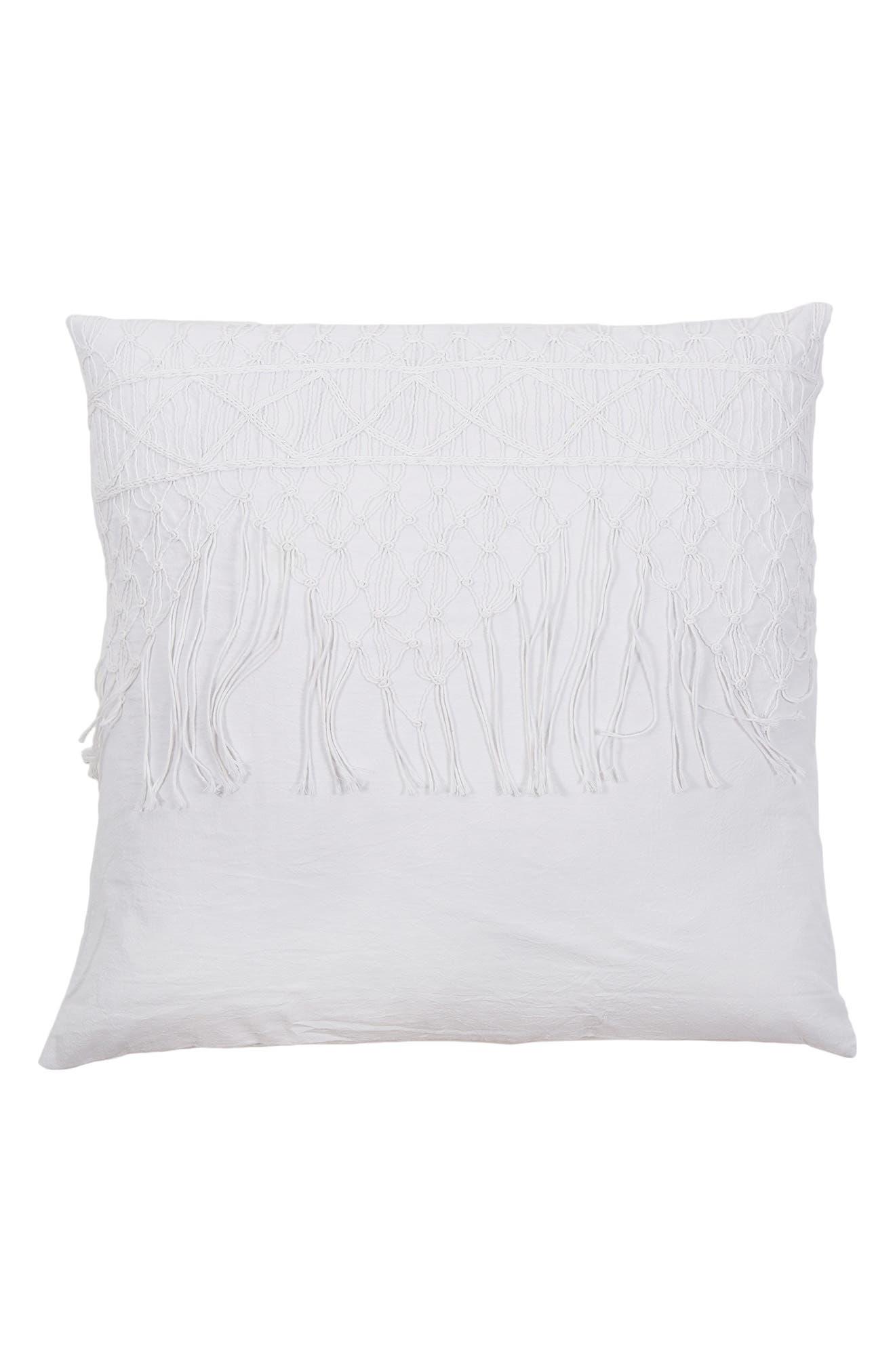 Zoe Accent Pillow Sham,                         Main,                         color, White