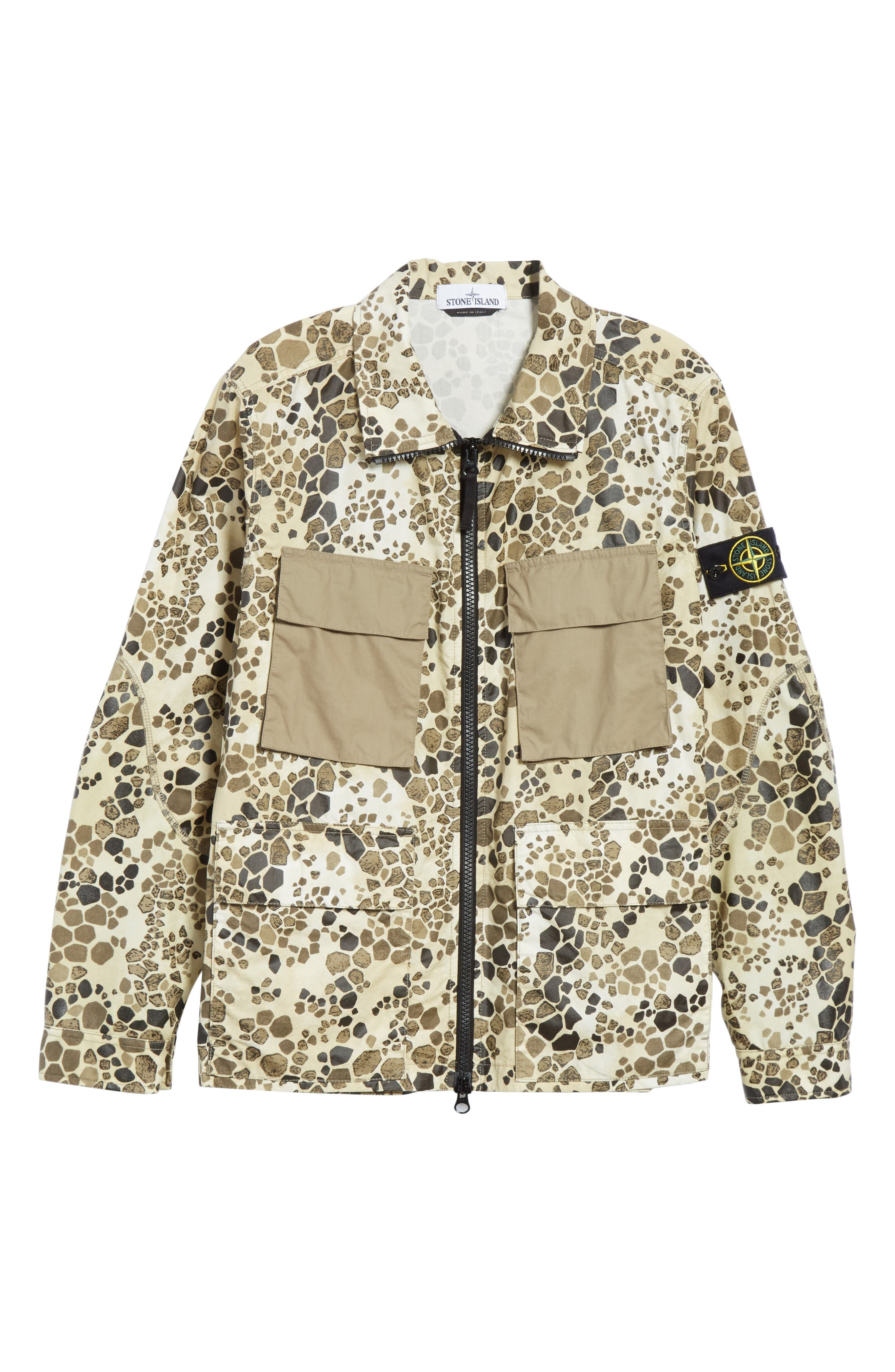 Camo Military Field Jacket,                             Alternate thumbnail 6, color,                             Brown