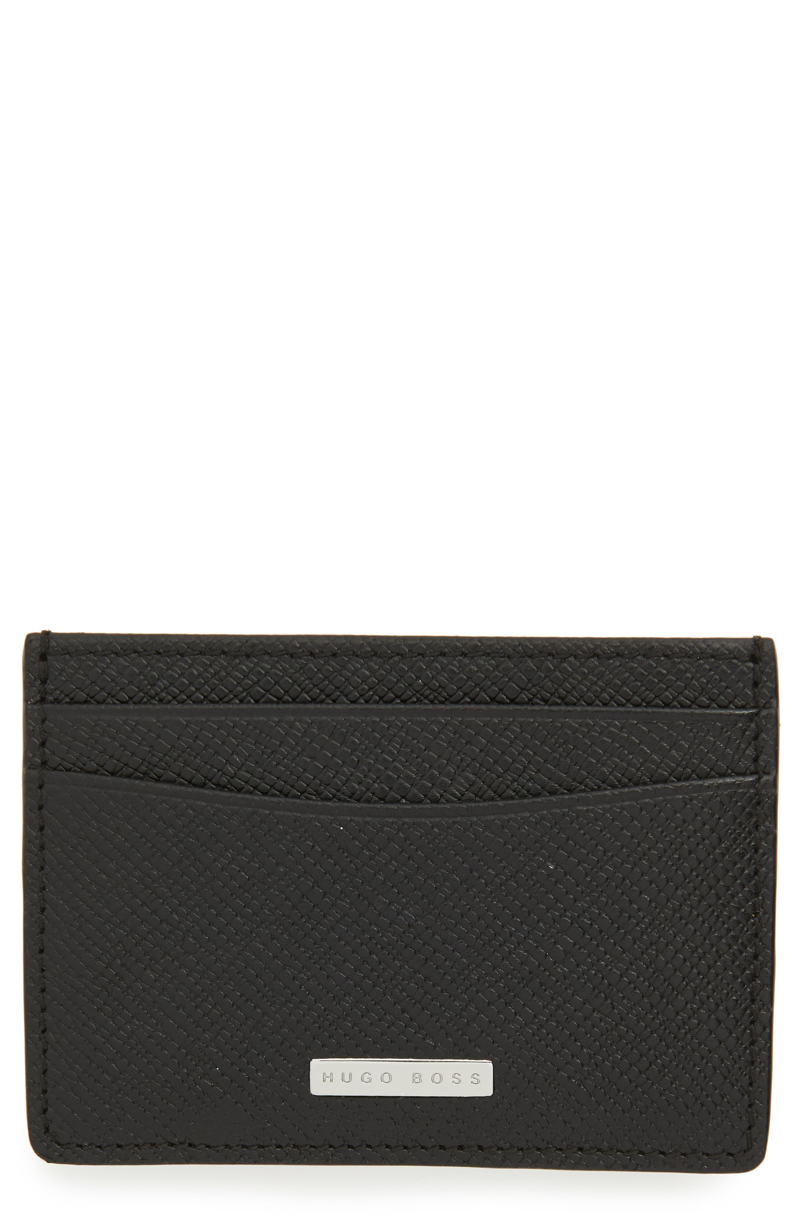 BOSS Hugo Boss Signature Leather Money Clip