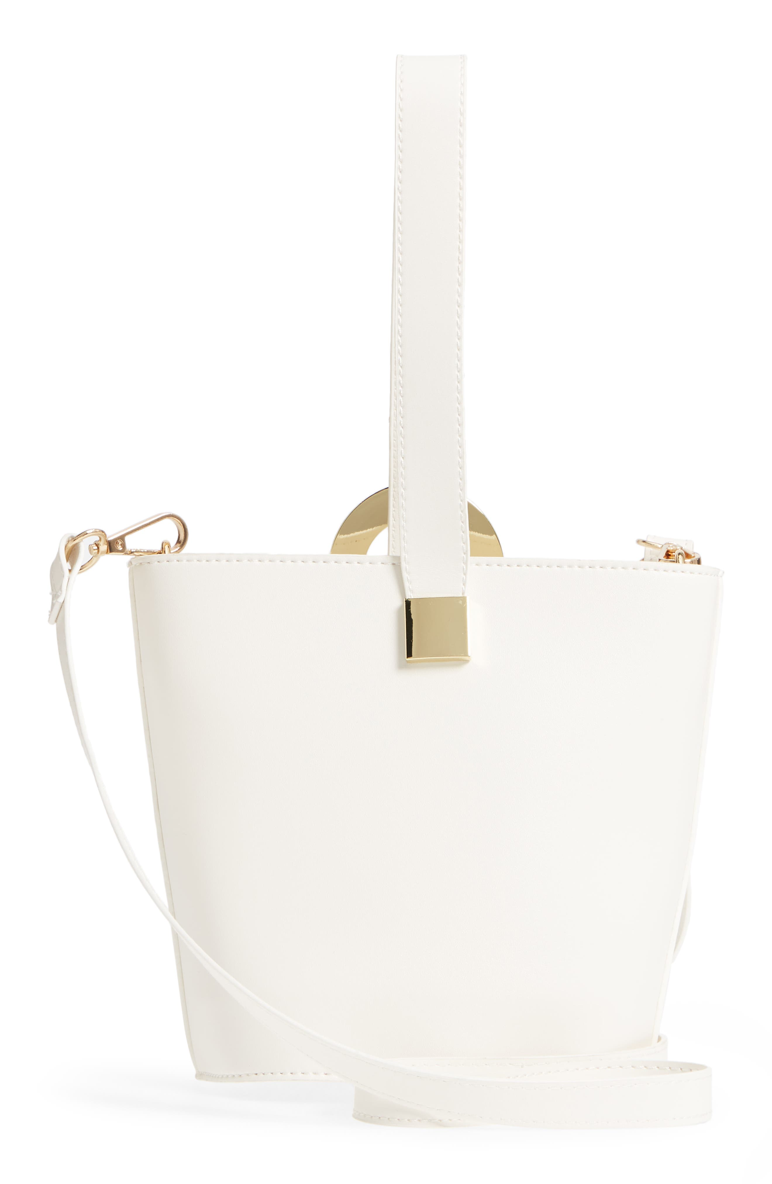 Alternate Image 3  - Yoki Bags Structured Faux Leather Bucket Bag