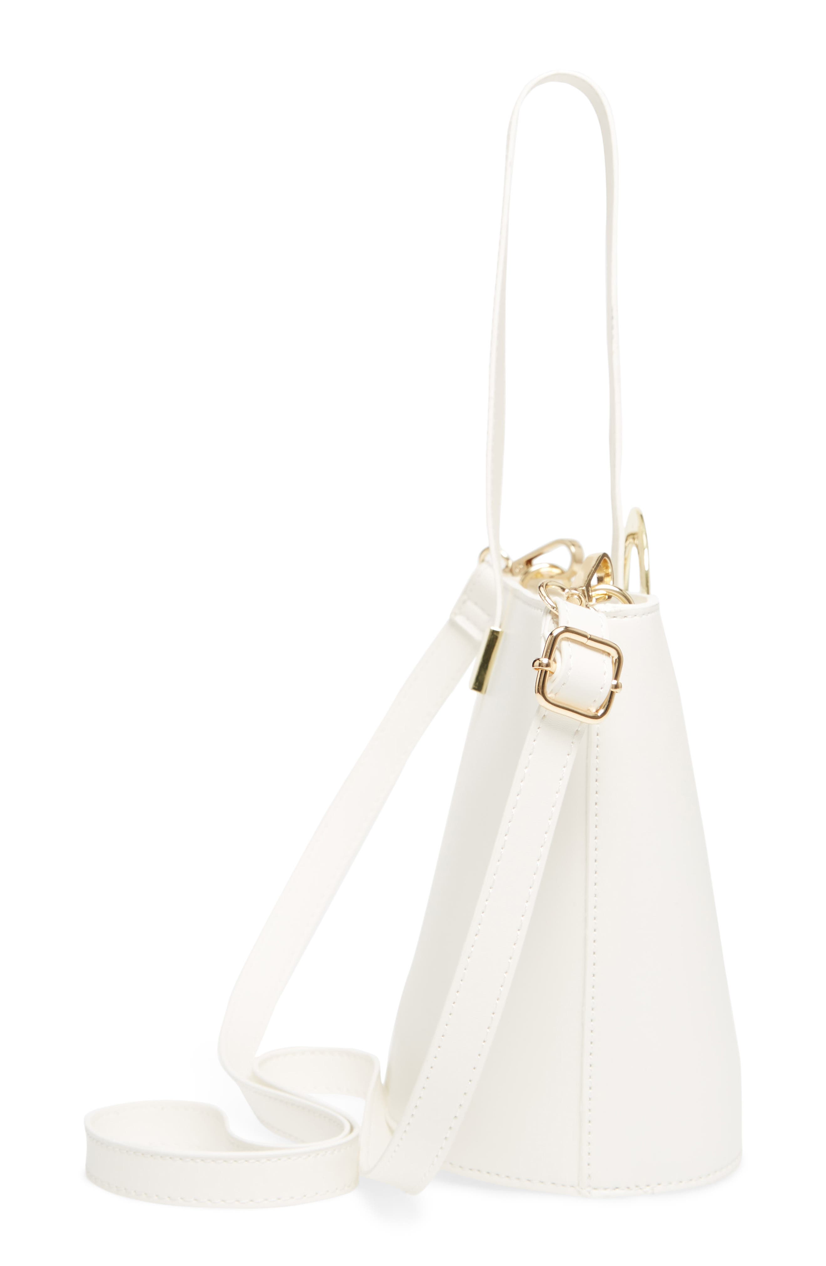Alternate Image 5  - Yoki Bags Structured Faux Leather Bucket Bag
