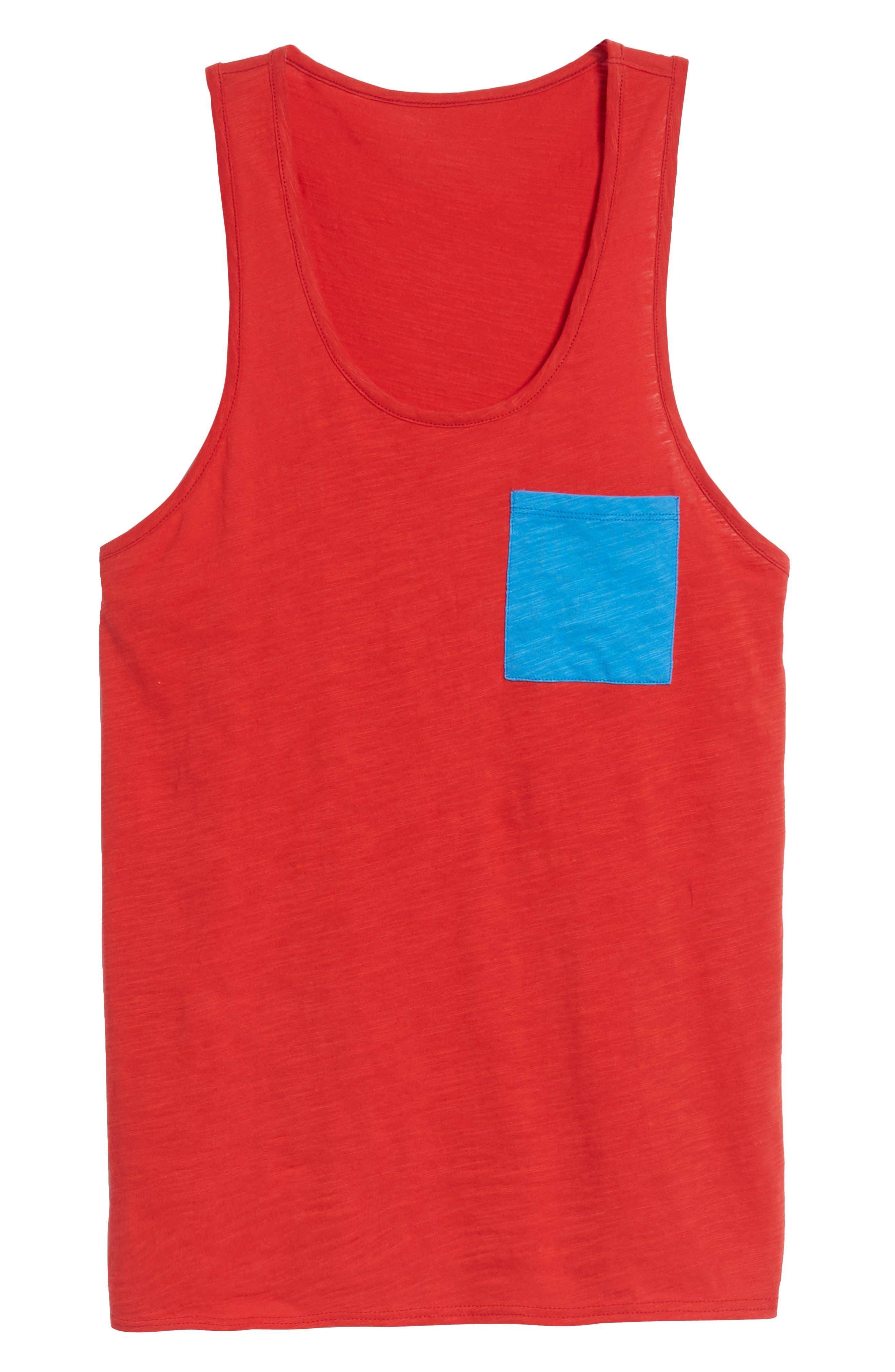 Contrast Pocket Tank,                             Alternate thumbnail 6, color,                             Red Pompeii