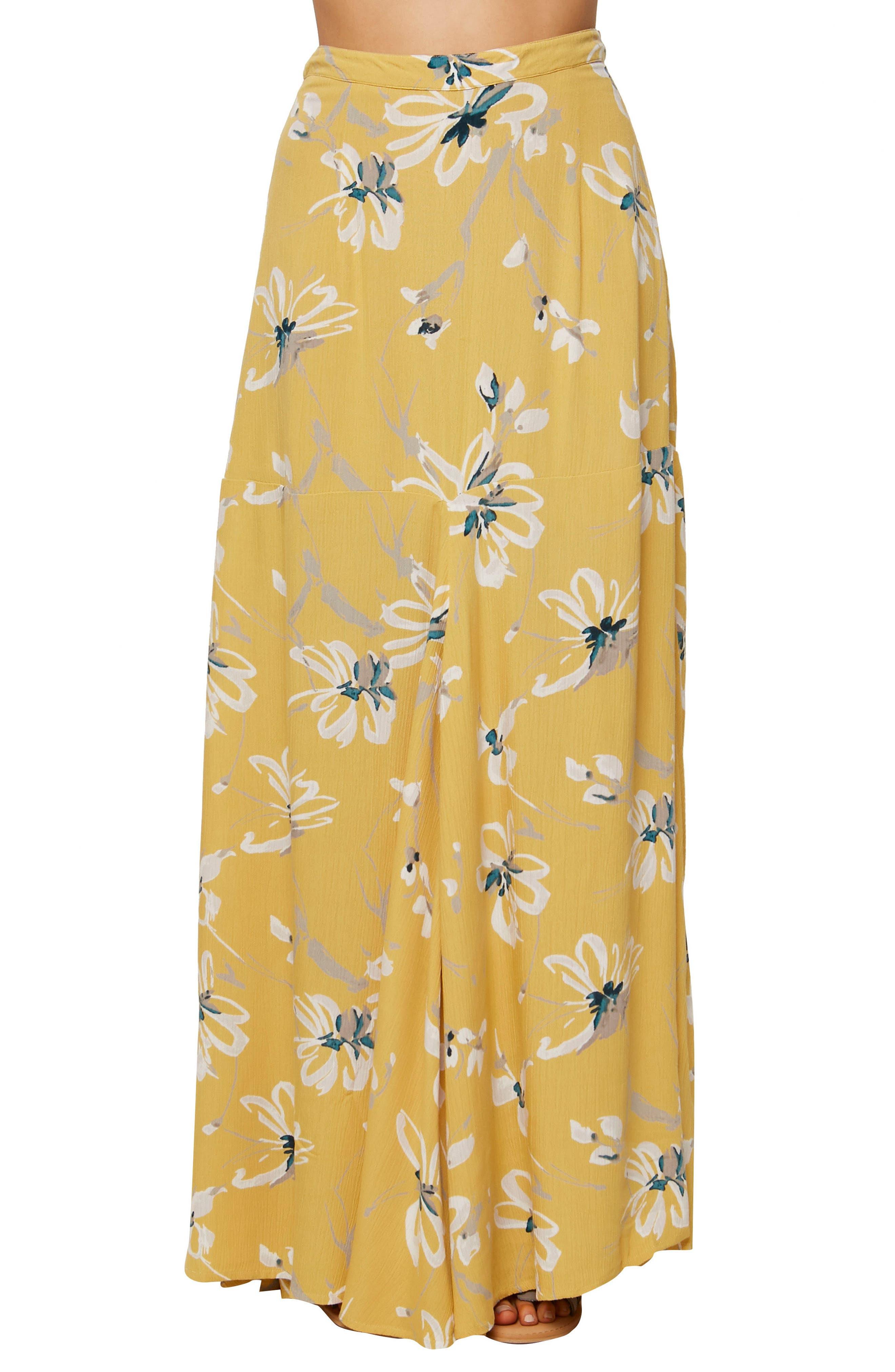 O'Neill Ashton Print Maxi Skirt