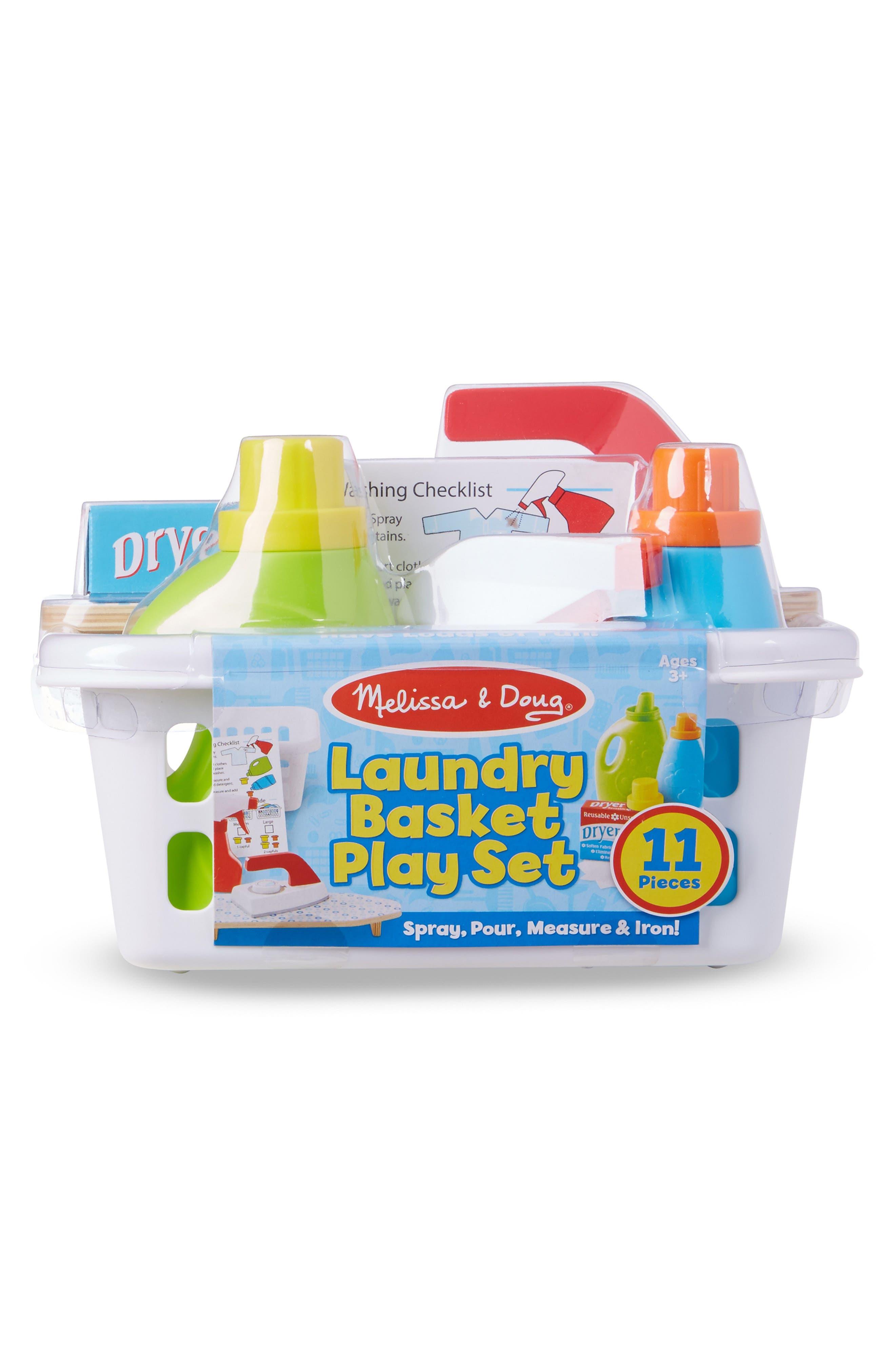 11-Piece Laundry Basket Play Set,                             Main thumbnail 1, color,                             Multi