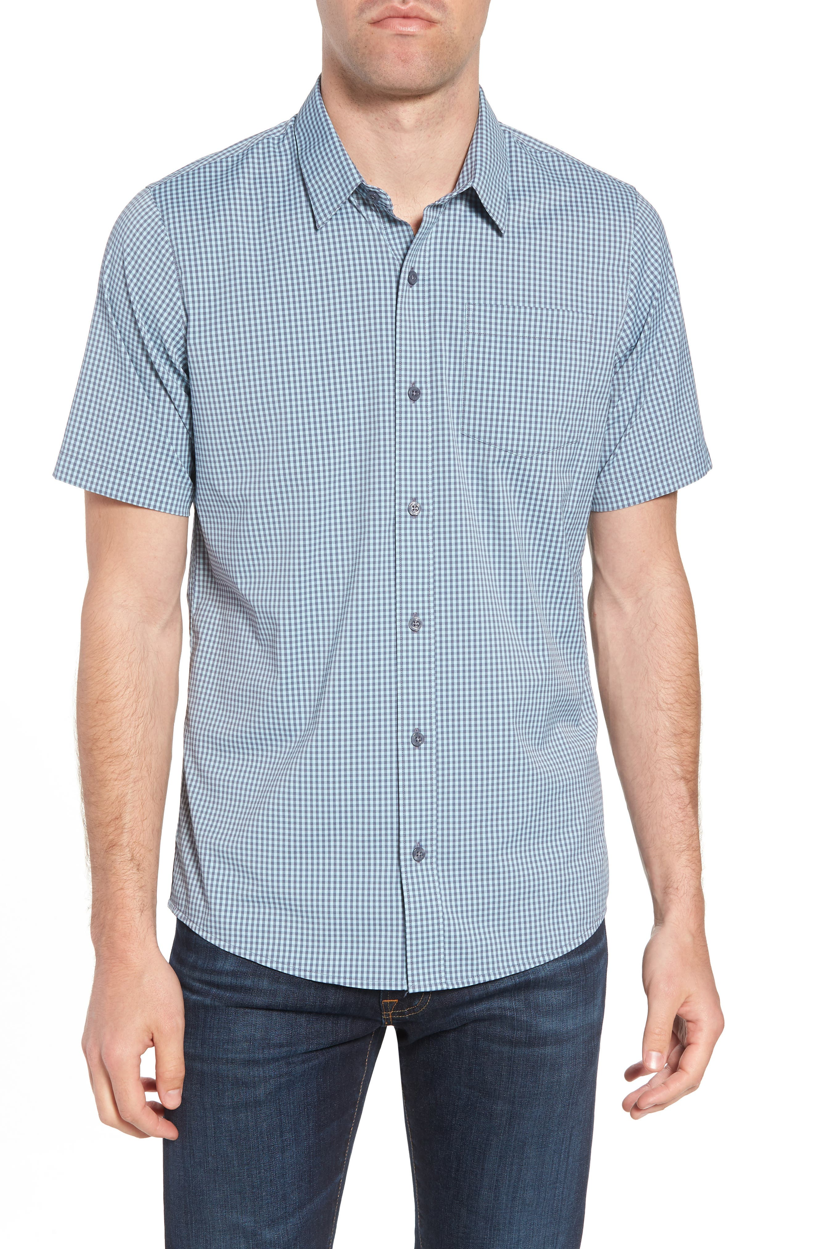 Gygax Regular Fit Sport Shirt,                             Main thumbnail 1, color,                             Porcelain Blue