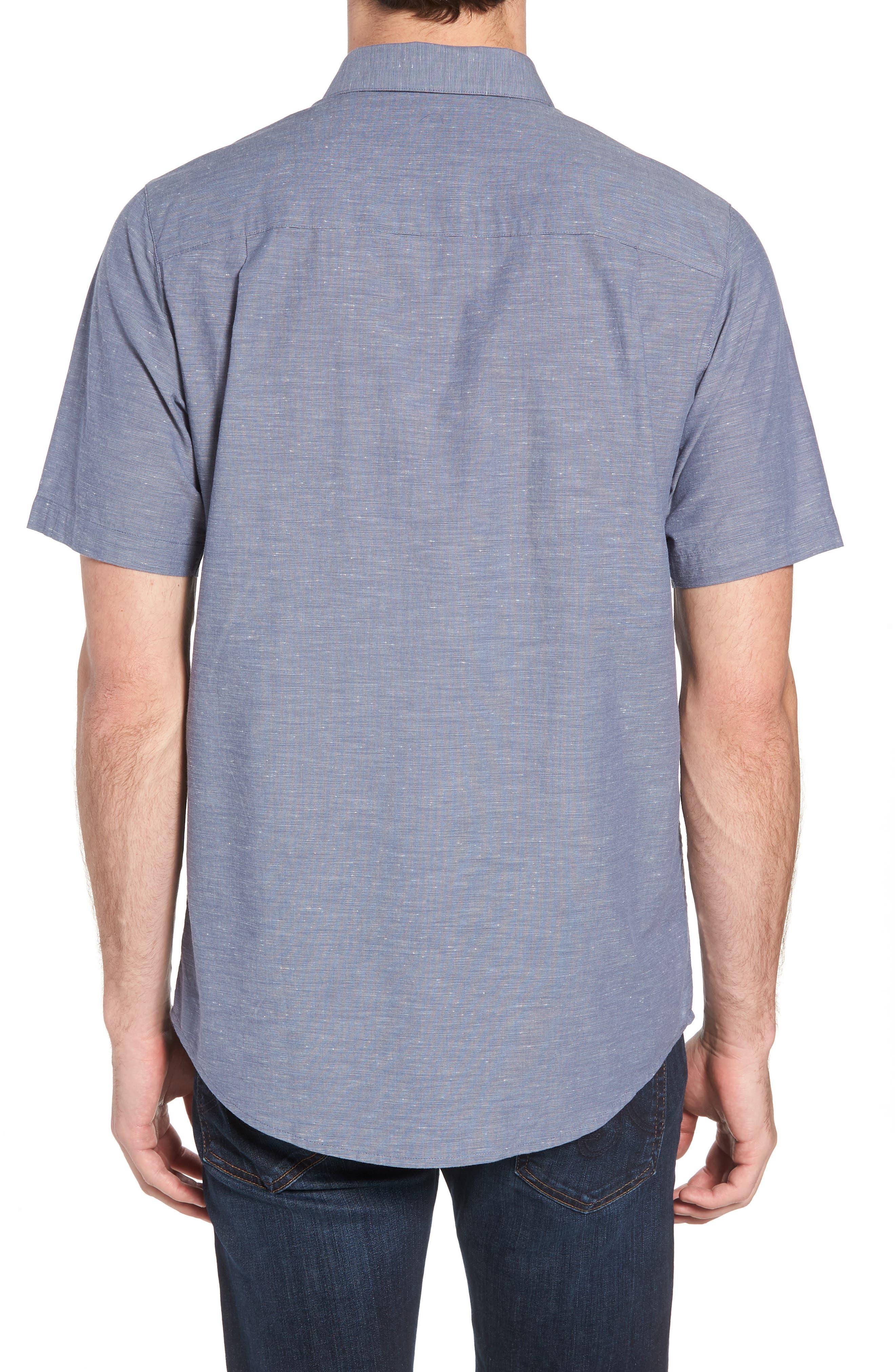 Studebaker Regular Fit Sport Shirt,                             Alternate thumbnail 3, color,                             Vintage Indigo