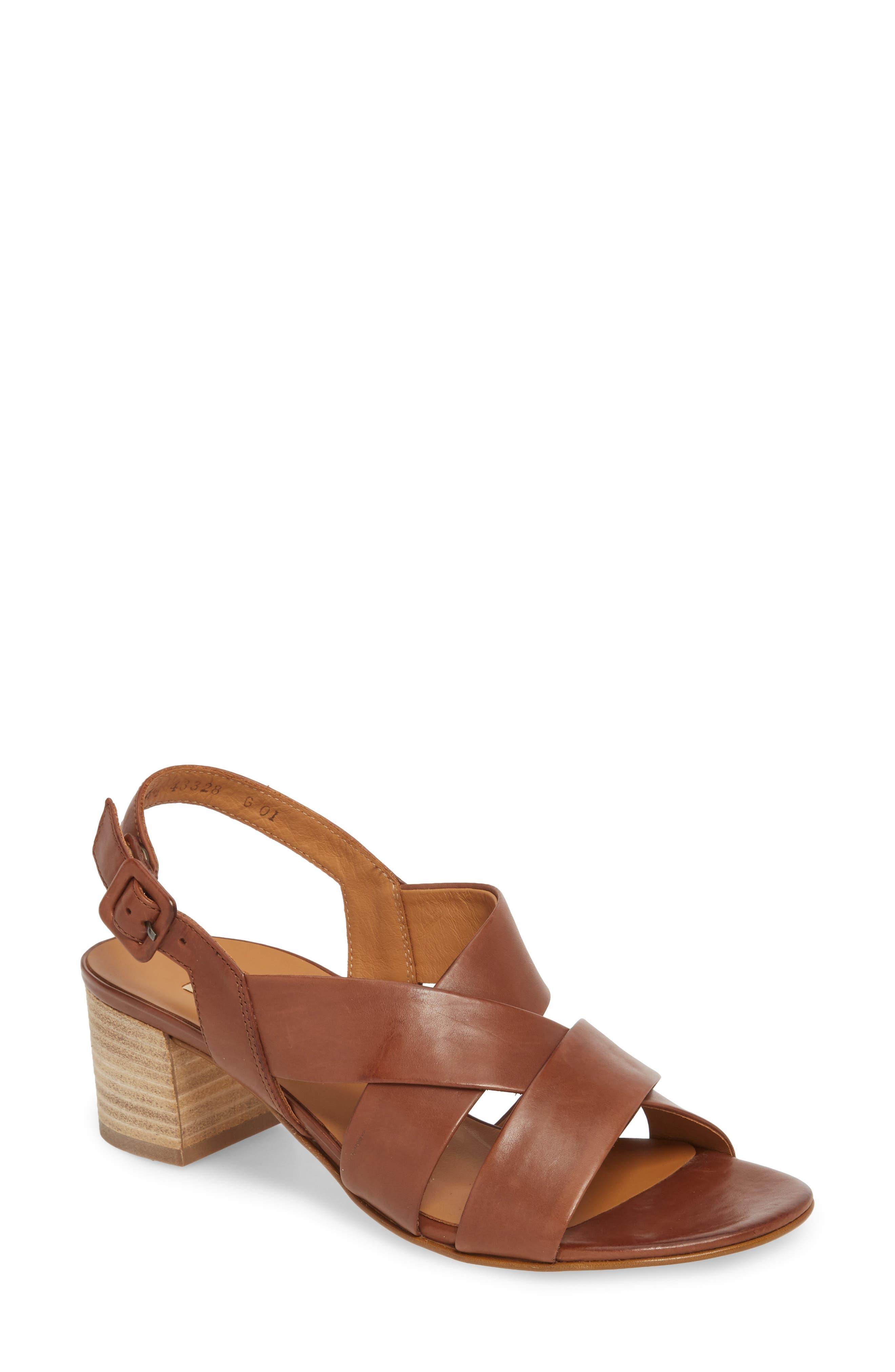 Reese Slingback Sandal,                         Main,                         color, Nougat Leather