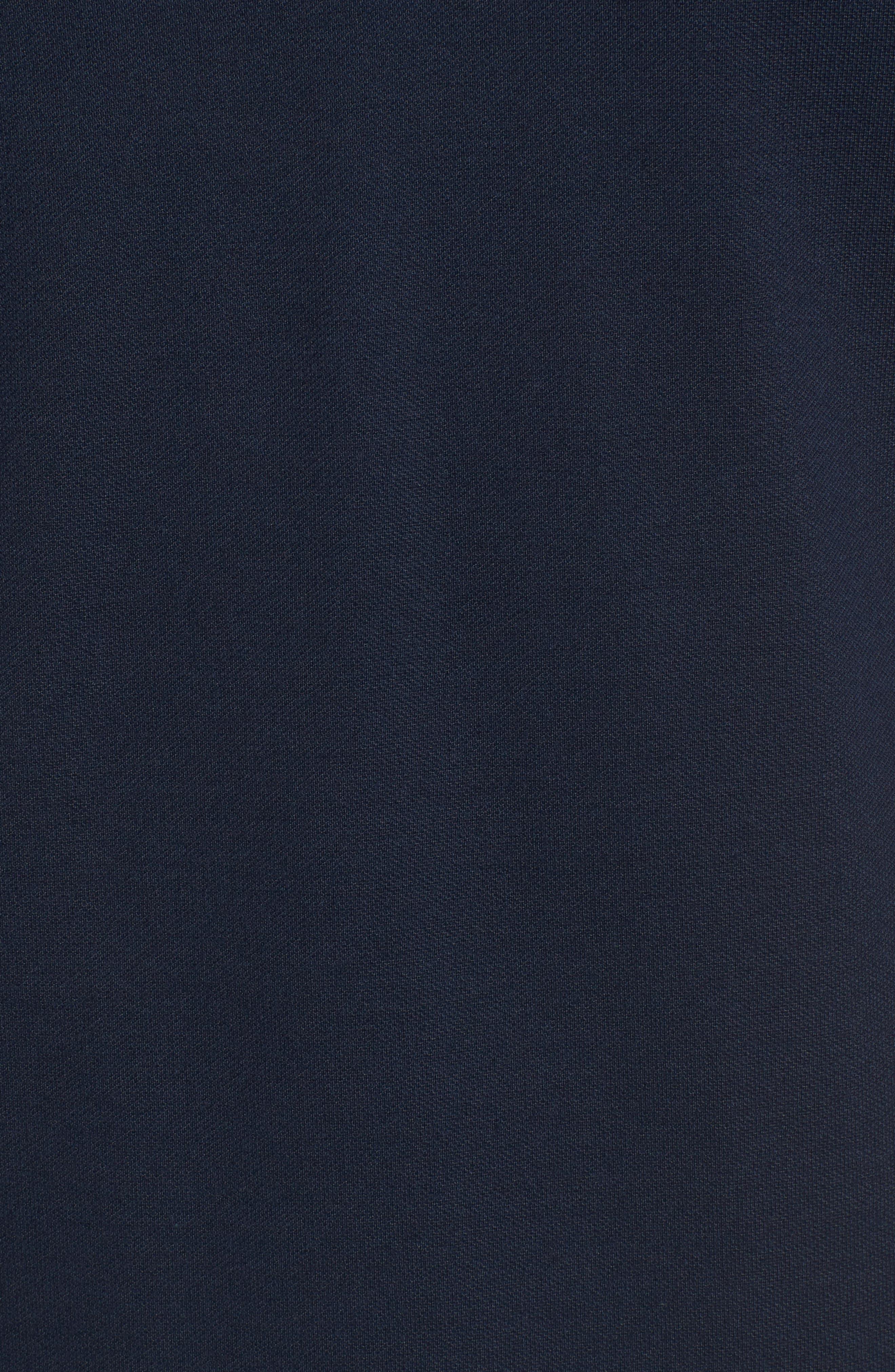 Made in France Colorblock Piqué Polo,                             Alternate thumbnail 5, color,                             Navy Blue/ Copenhagen-Green