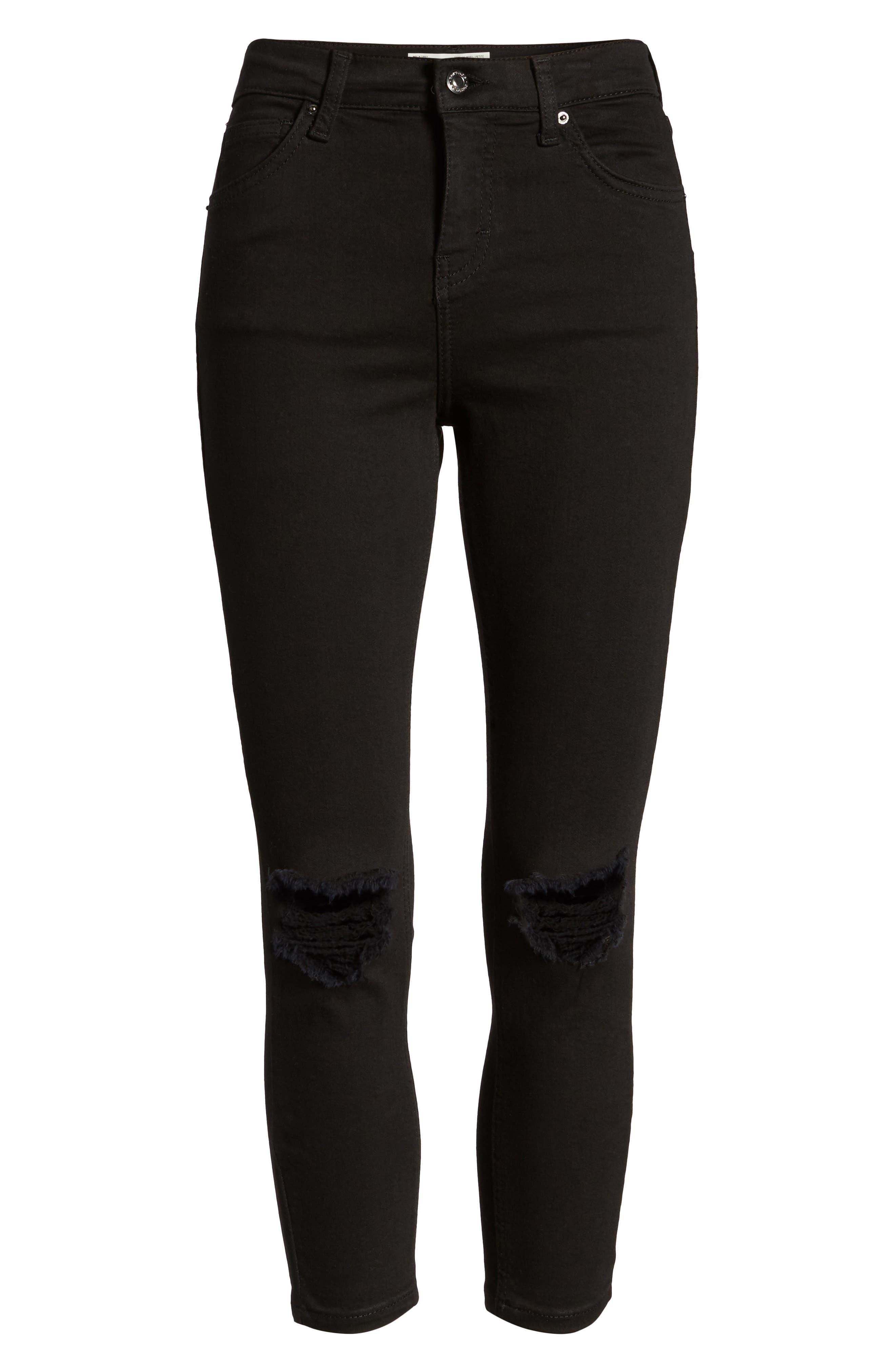 Jamie Ripped Jeans,                             Alternate thumbnail 7, color,                             Black