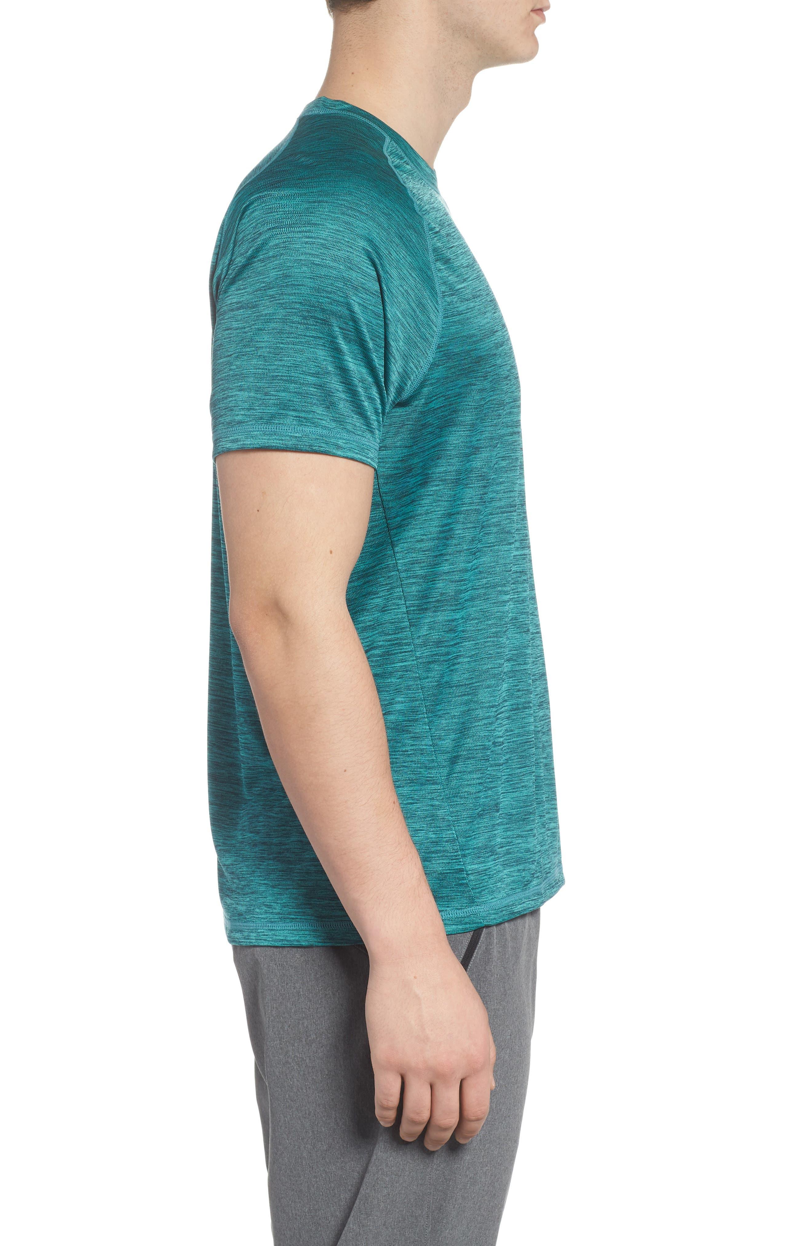 Triplite T-Shirt,                             Alternate thumbnail 3, color,                             Teal Tourmaline Melange