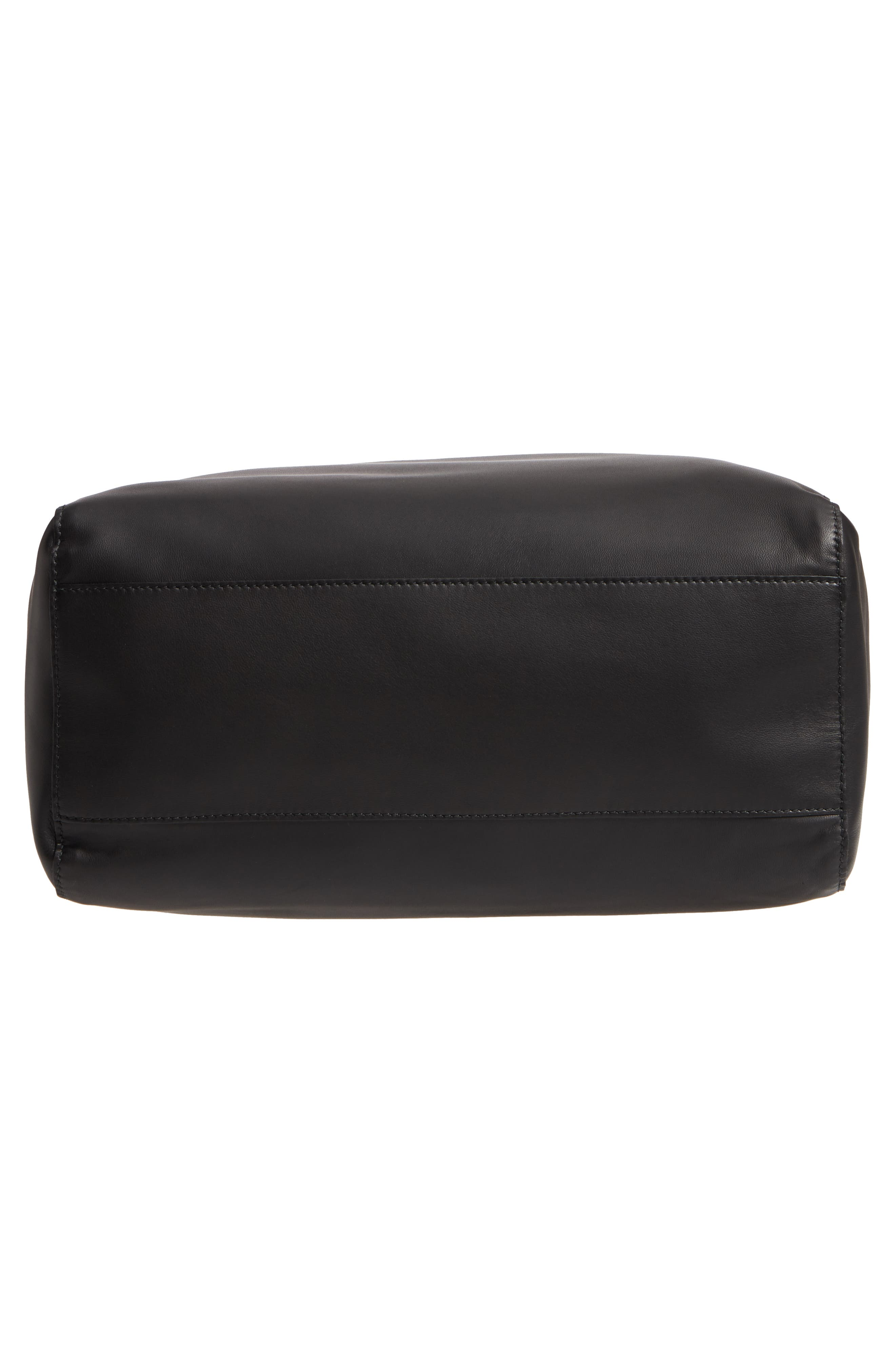 x Andy Warhol Foundation Dennis Hopper Calfskin Leather Bucket Bag,                             Alternate thumbnail 6, color,                             Black/ Red