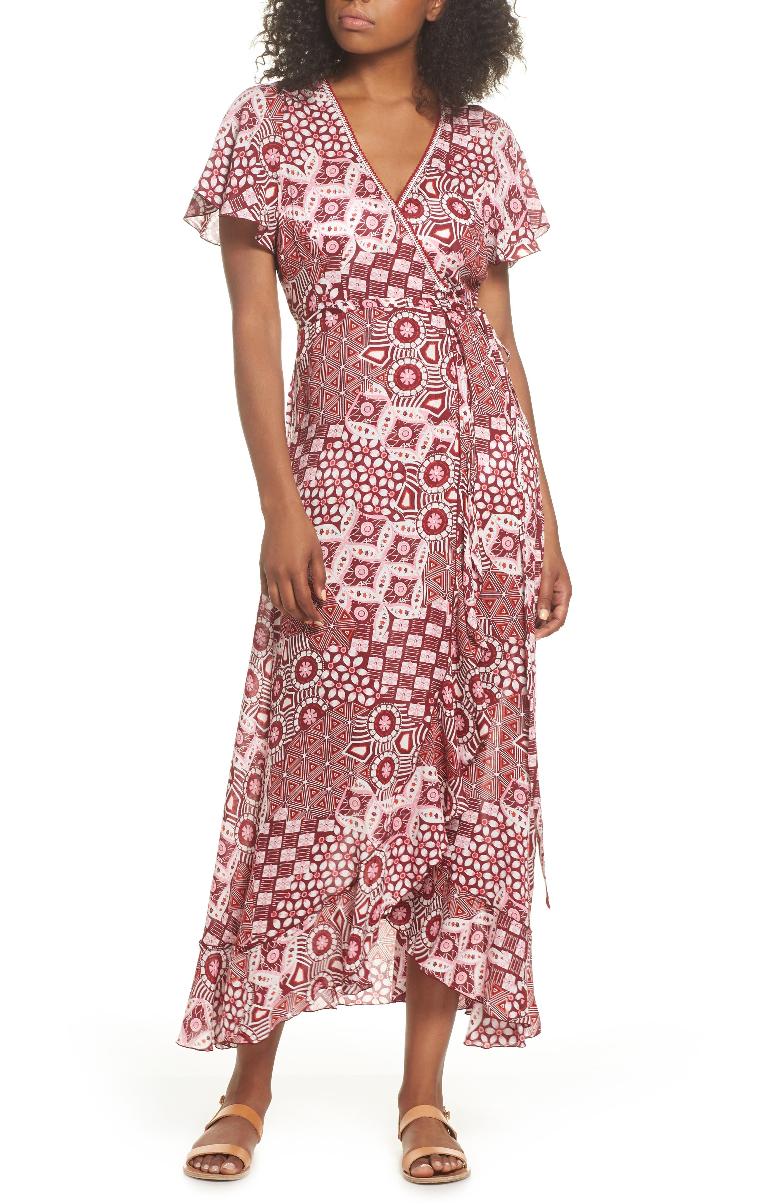 Poupette St. Barth Joe Cover-Up Maxi Dress,                         Main,                         color, Pink Mali