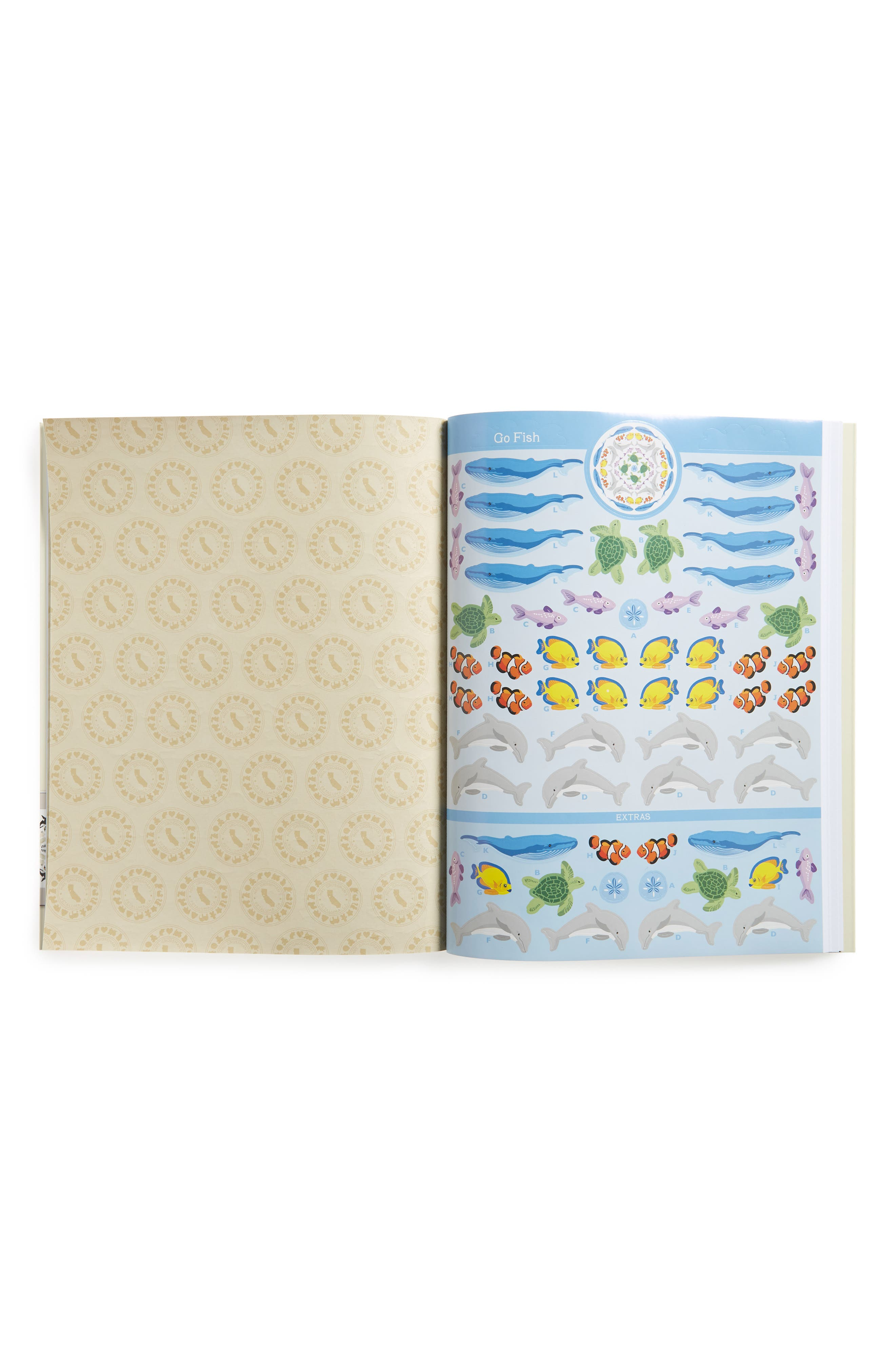 Mrs. Grossman's Animals All Around Kaleidoscopes Sticker Book,                             Alternate thumbnail 2, color,                             Yellow